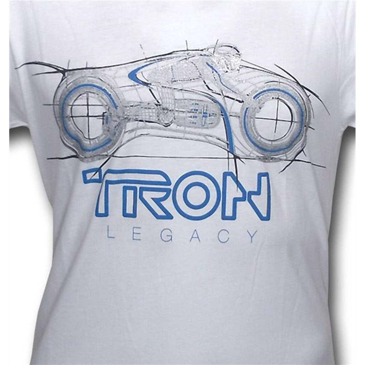 Tron Legacy Wireframe Light Cycle 30 Single T-Shirt