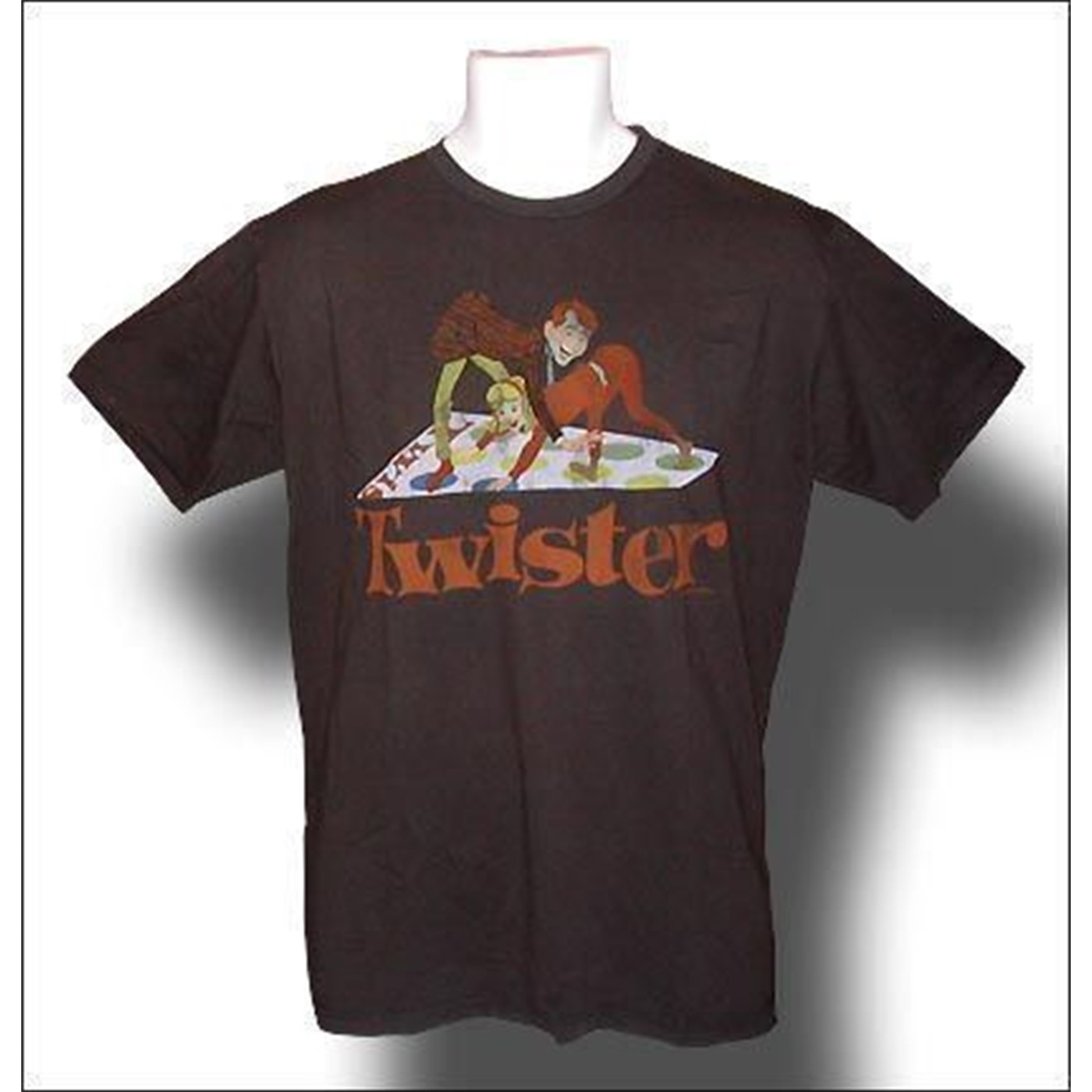 Twister T-Shirt Brown Distressed