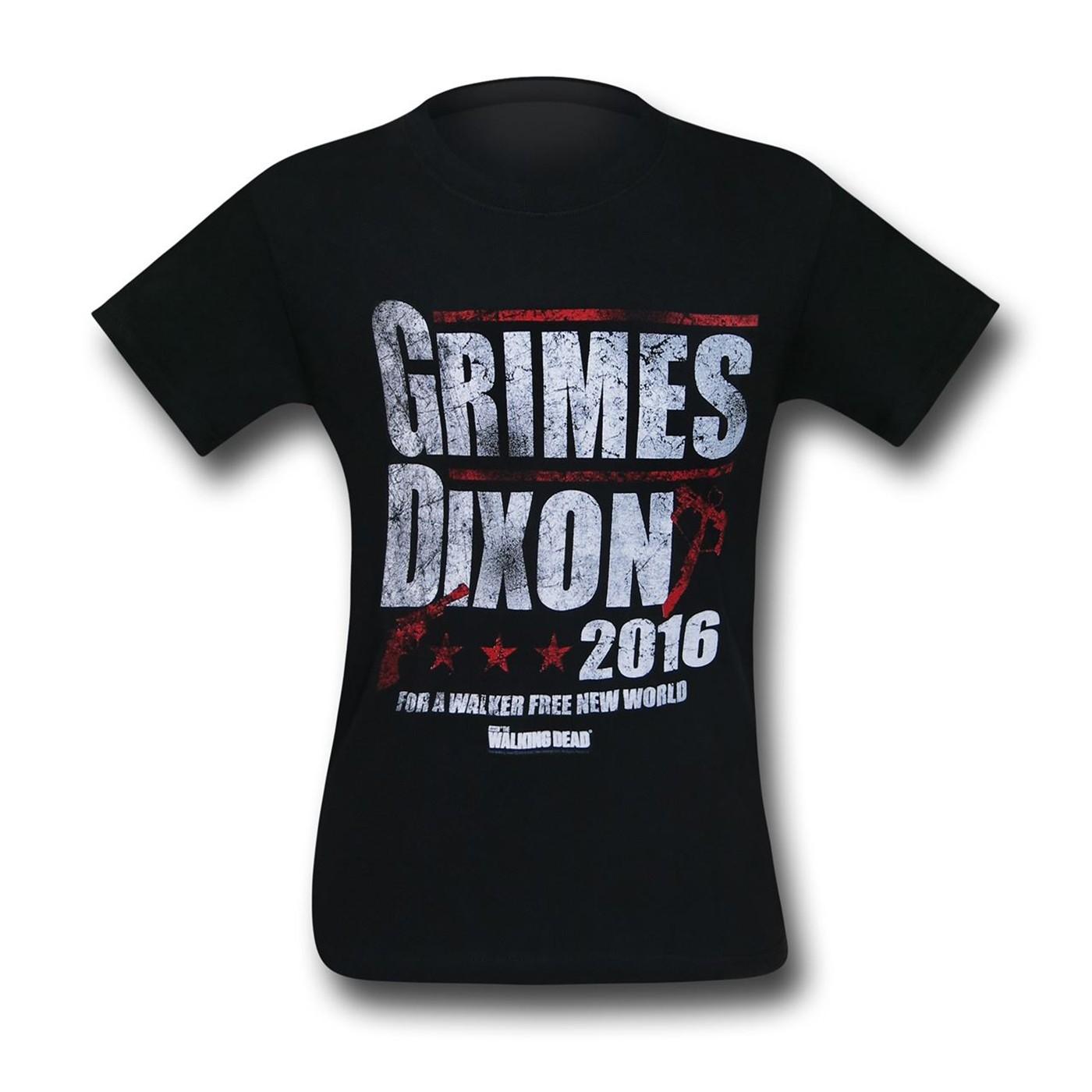 Walking Dead Grimes & Dixon 2016 Men's T-Shirt