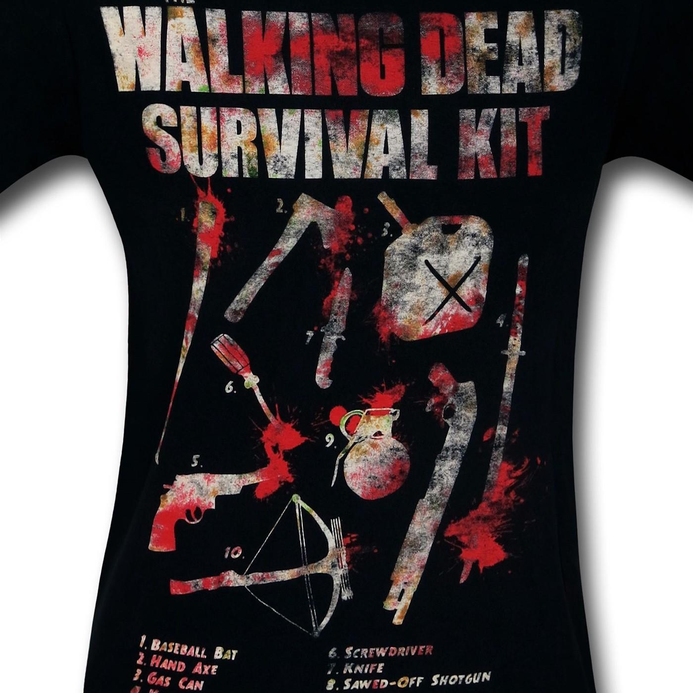 Walking Dead Survival Kit T-Shirt