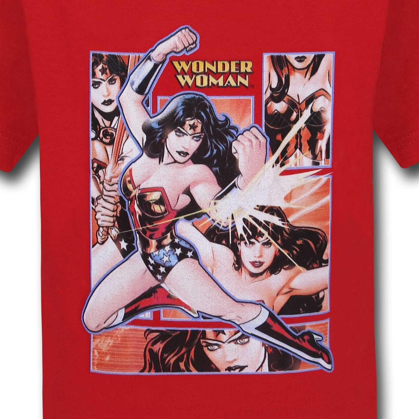 Wonder Woman Block on Red Kids T-Shirt