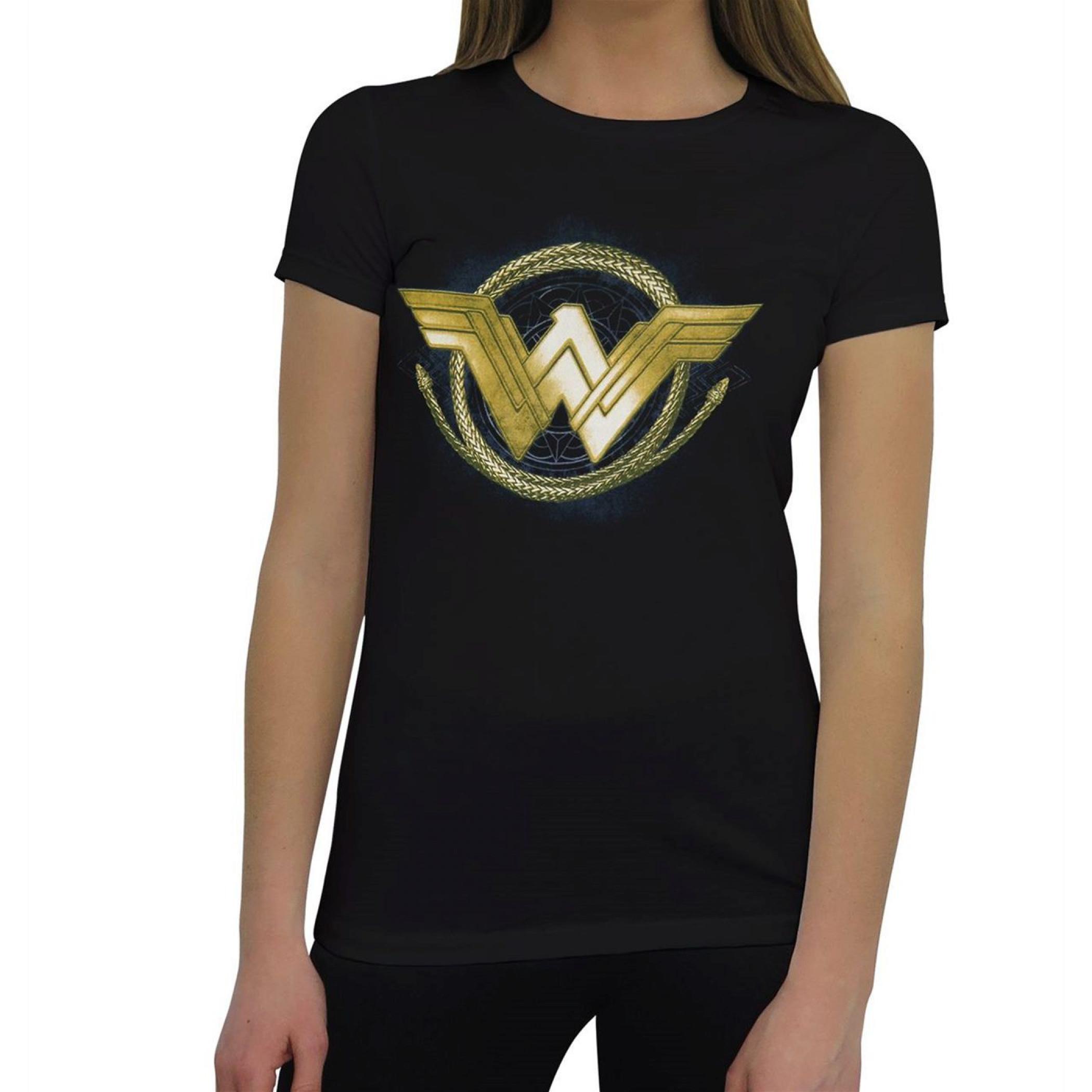 Wonder Woman Golden Lasso Logo Women's T-Shirt