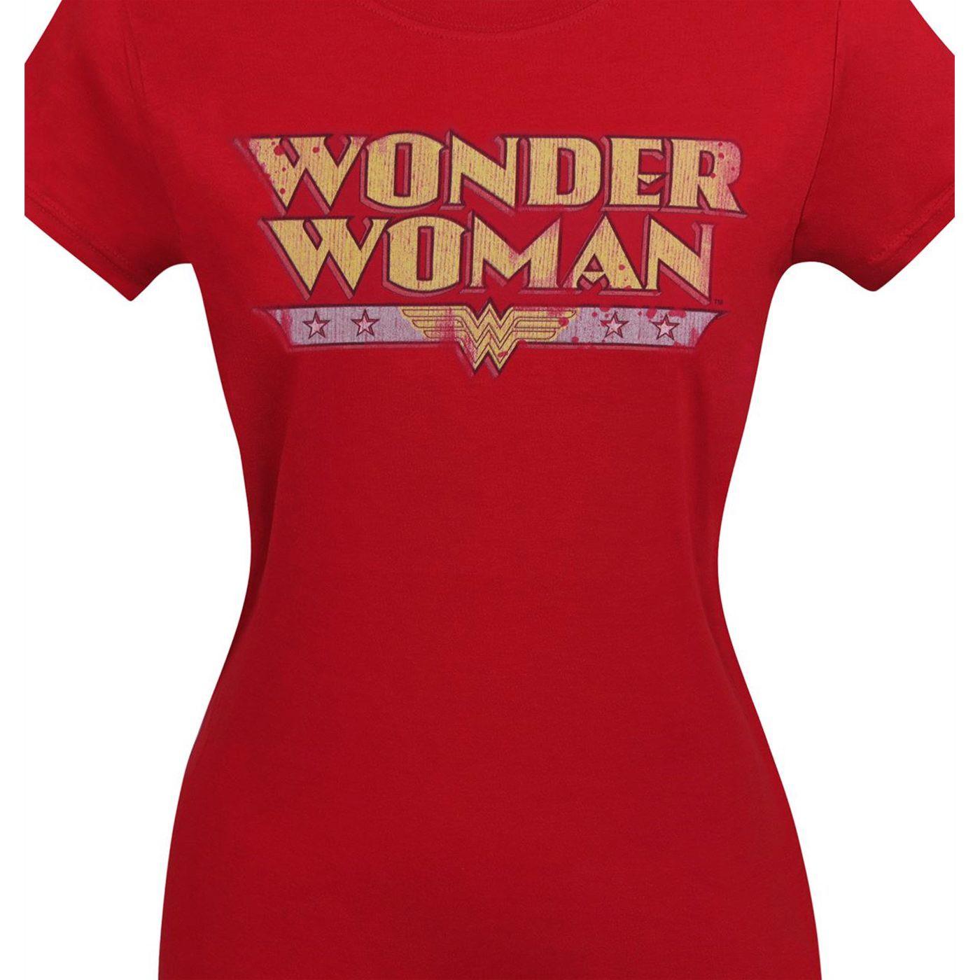 Wonder Woman Women's Distressed Logo T-Shirt