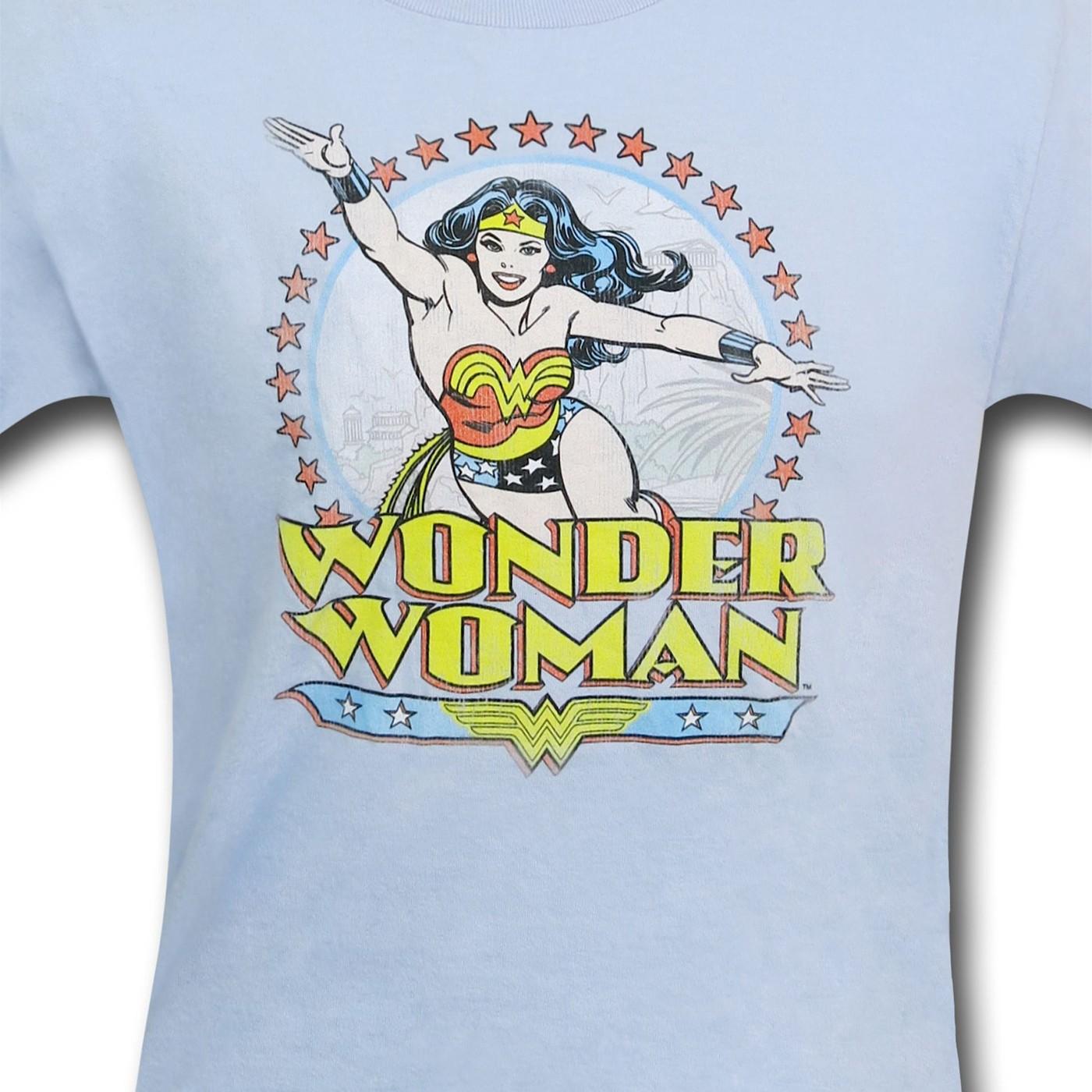Wonder Woman Kids Blue Circle T-Shirt