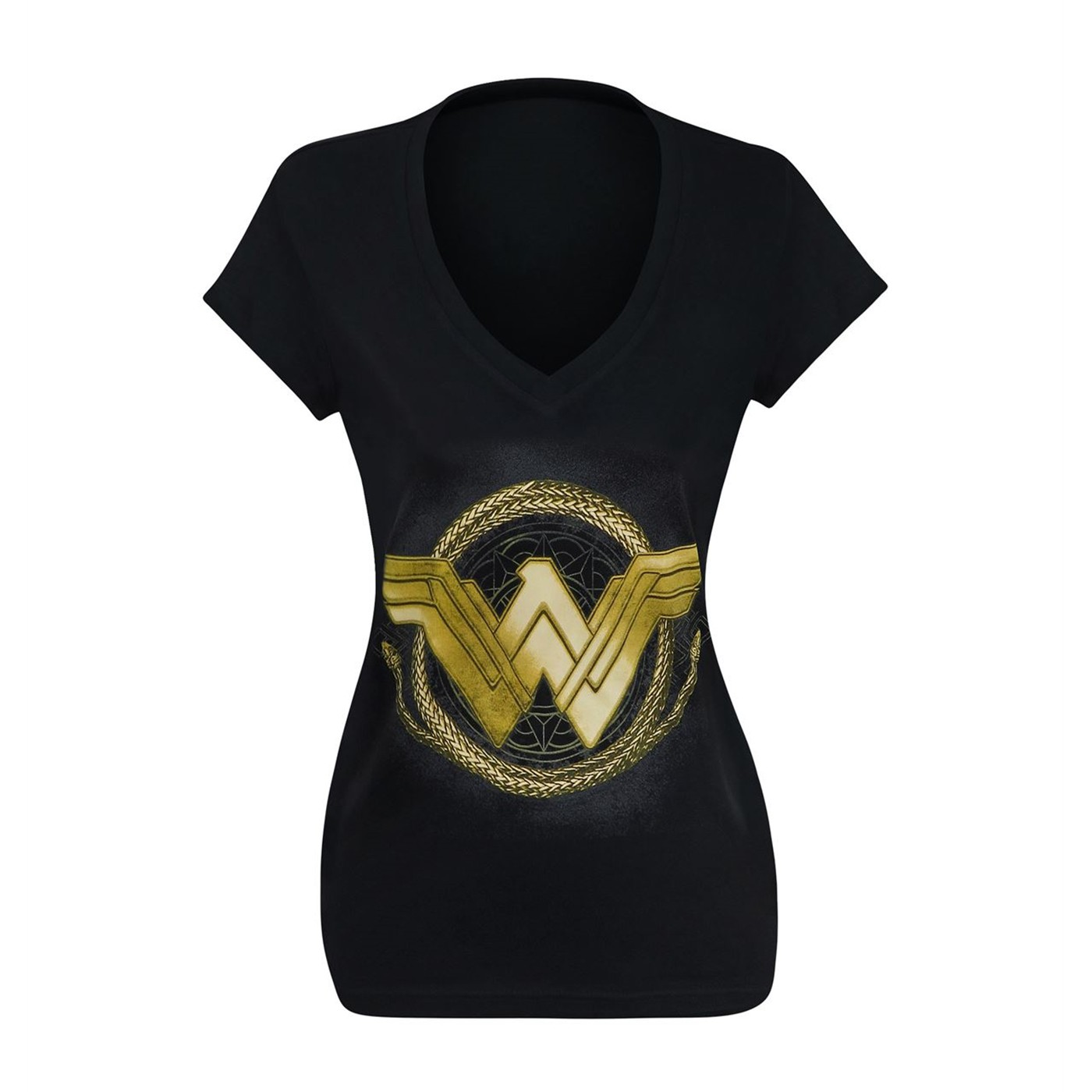 Wonder Woman Movie Golden Lasso Women's V-Neck T-Shirt