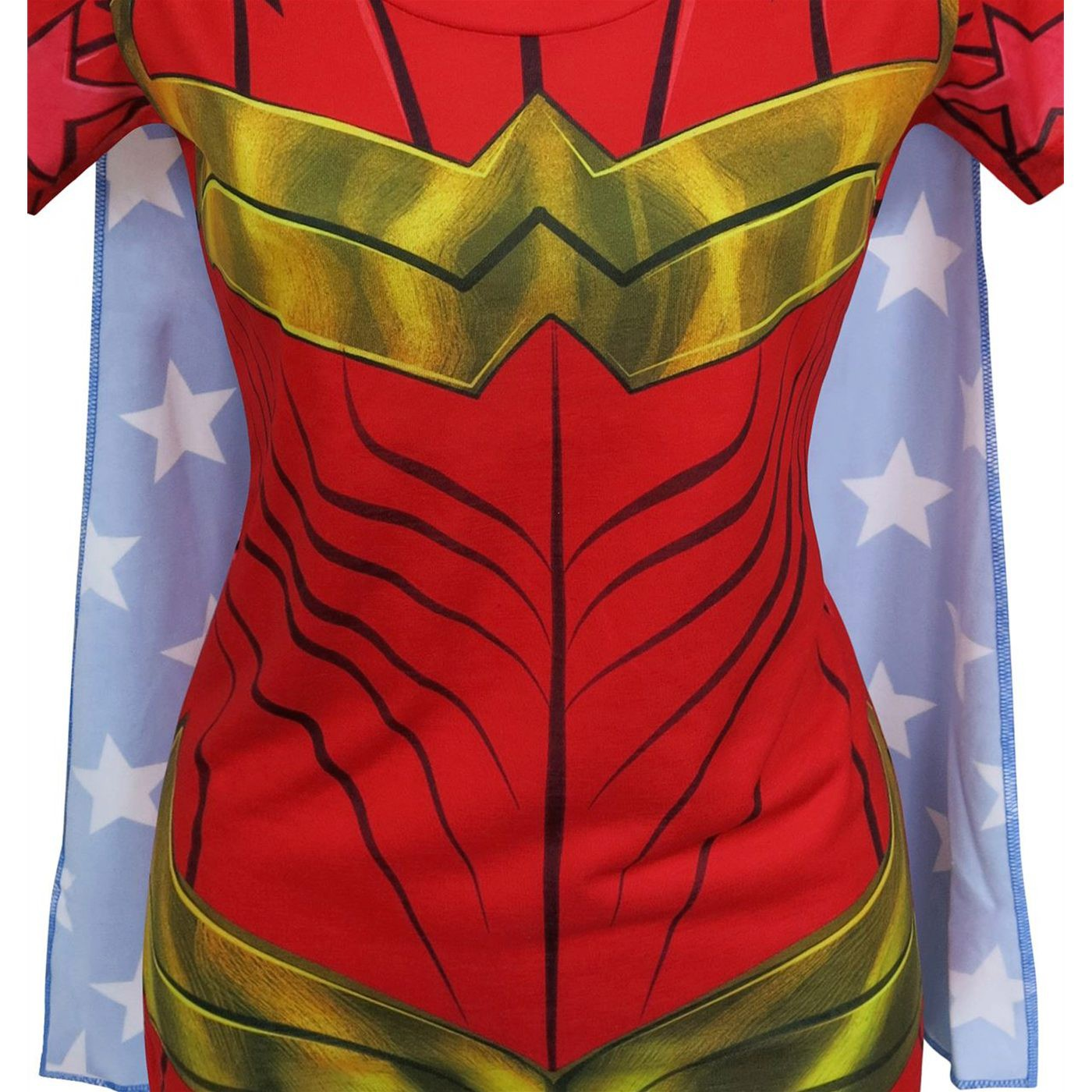 Wonder Woman Sublimated Caped Women's T-Shirt
