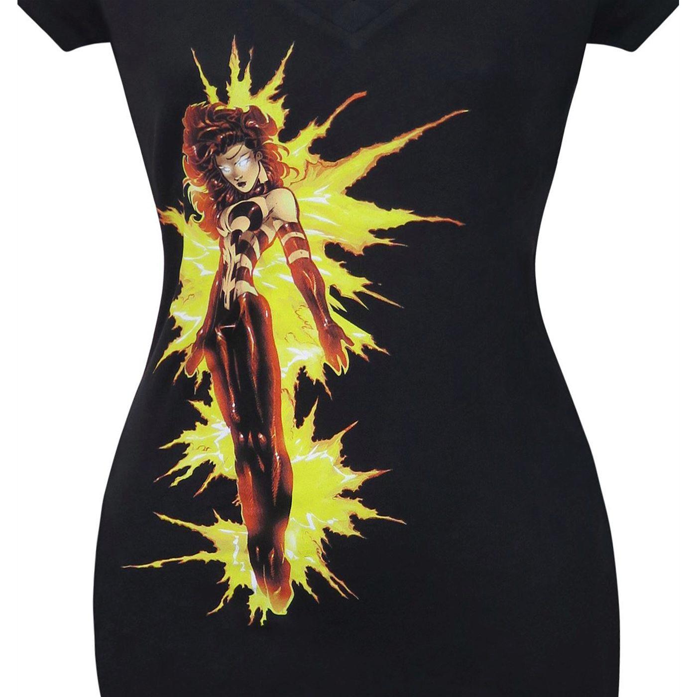 X-Men Fire Phoenix Women's V-Neck T-Shirt