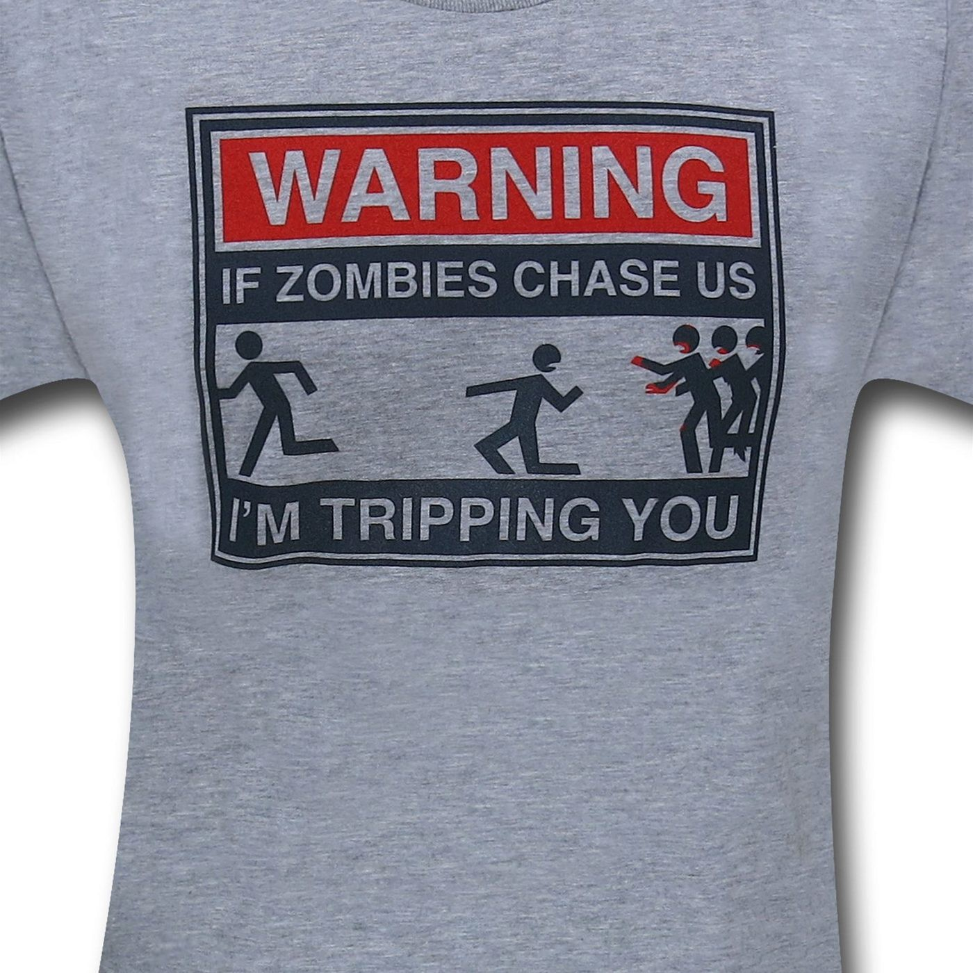 Zombie Chase Heather Grey T-Shirt