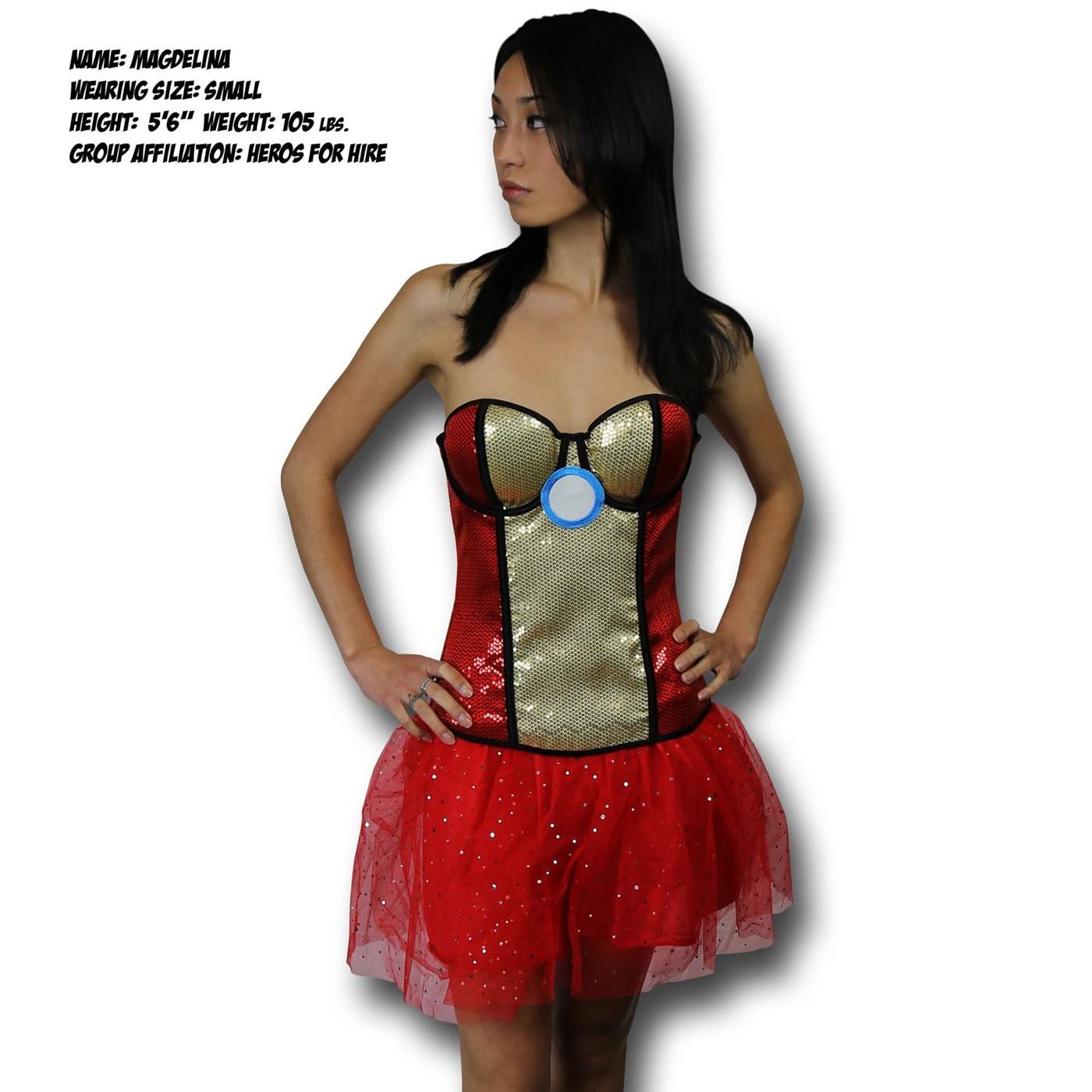 Iron Man Rescue Costume Sequin Corset