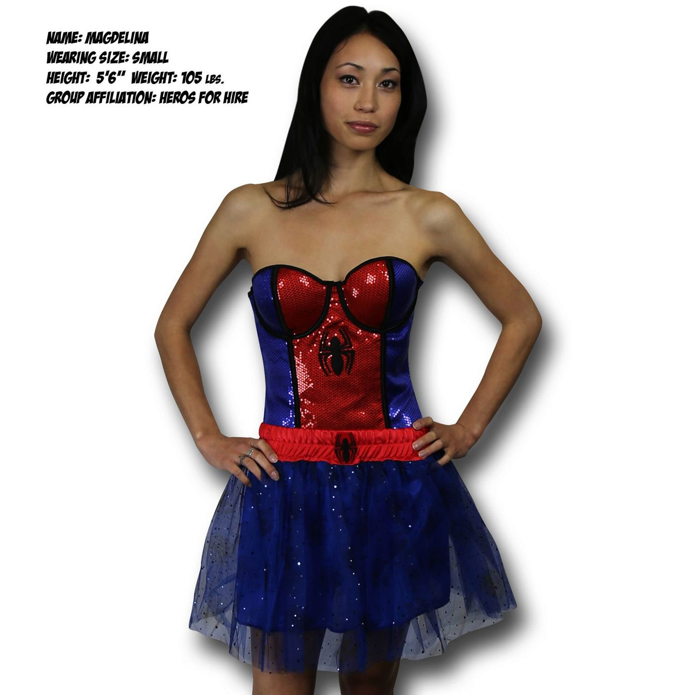 Spider-Girl Costume Sequin Corset