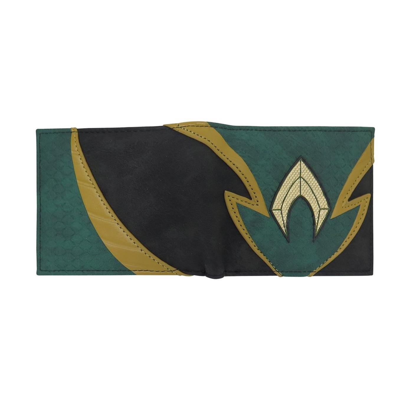 Aquaman Chrome Weld Patch Men's Bi-Fold Wallet