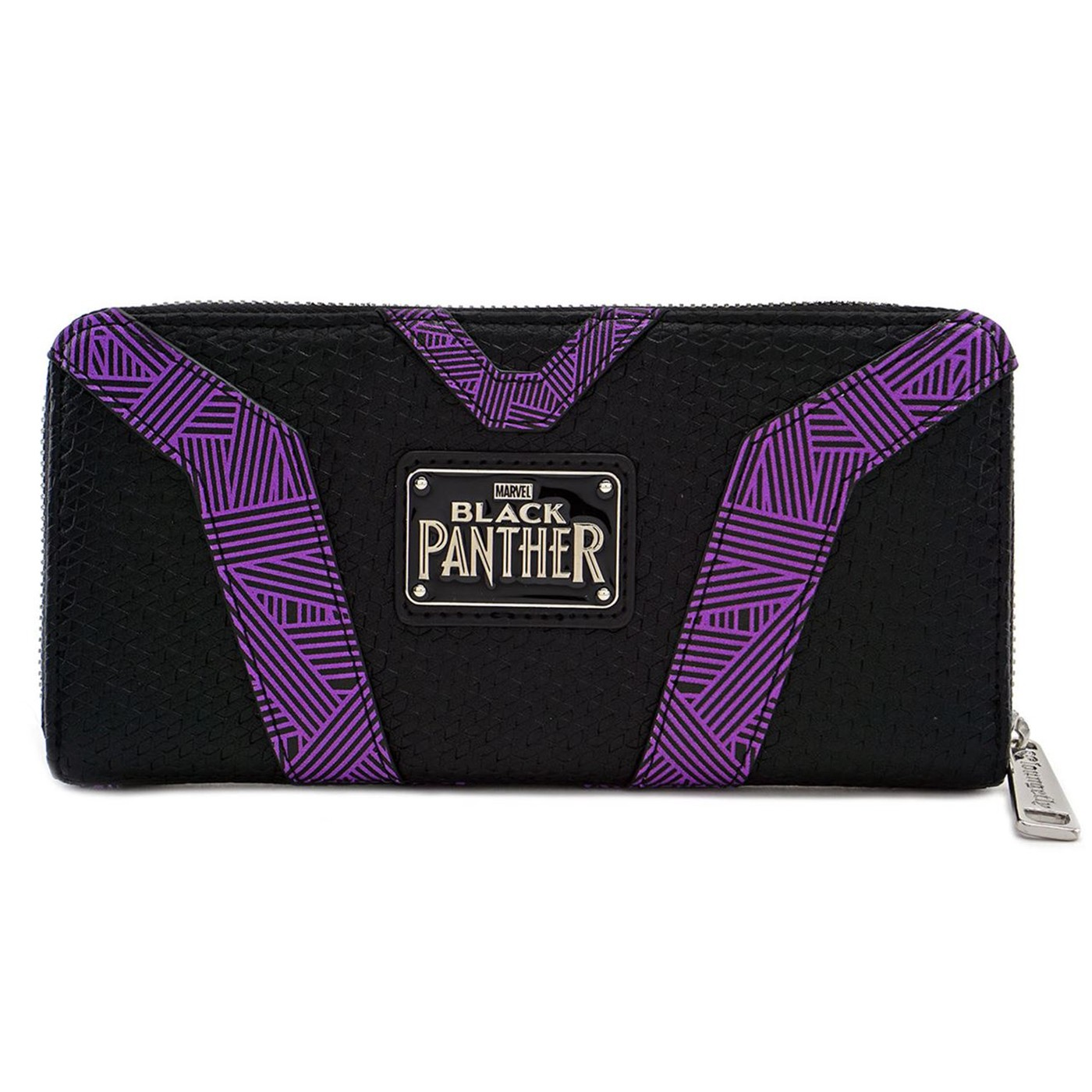Black Panther Kinetic Energy Suit Zip Around Wallet