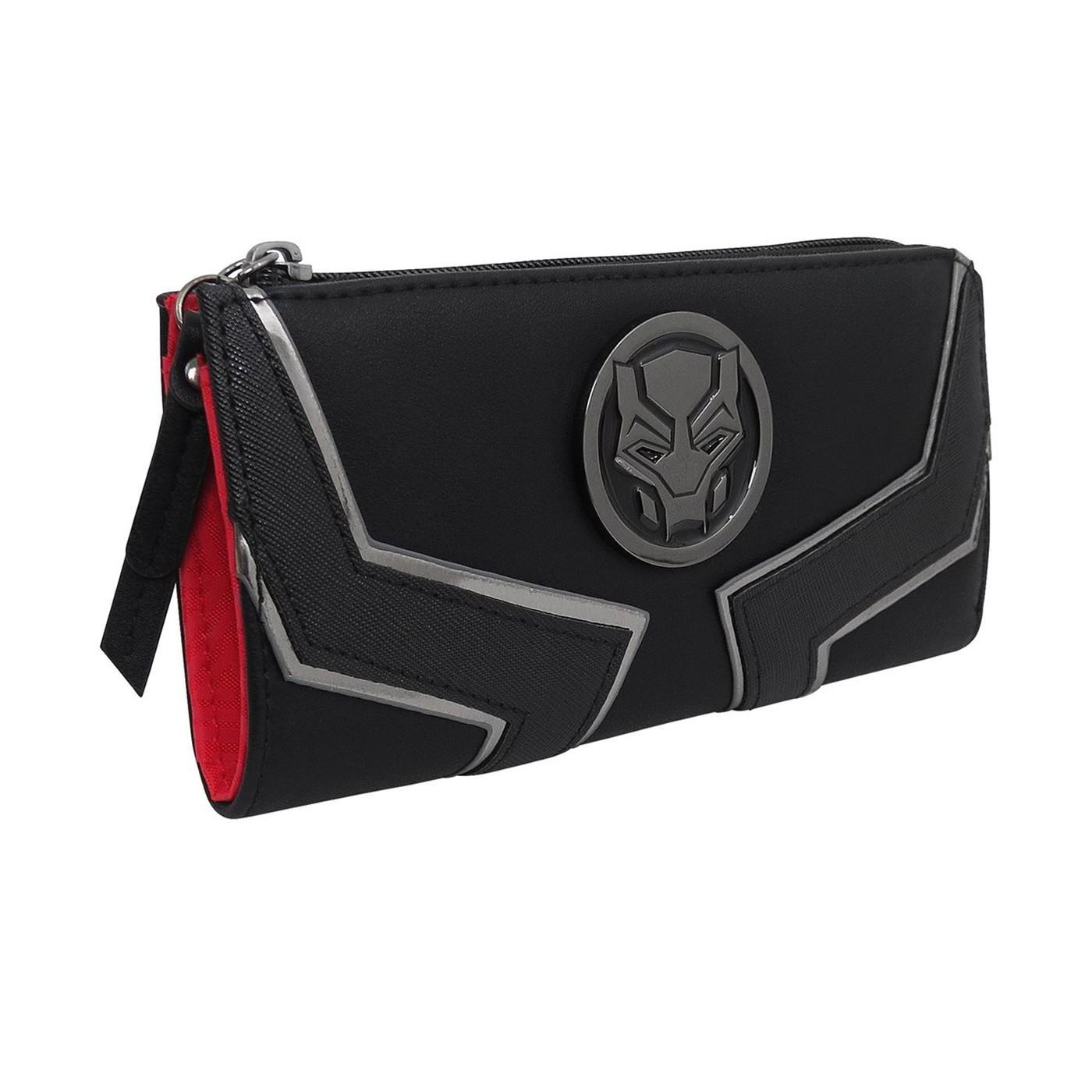 Black Panther Movie Logo Women's Zip Around Wallet