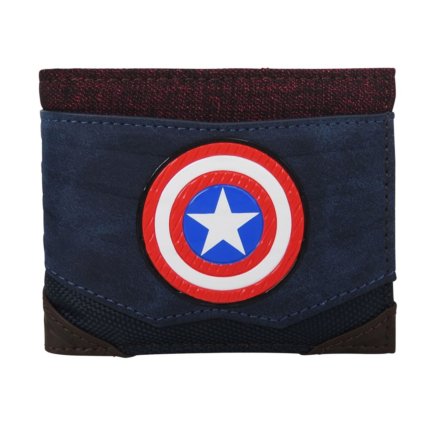 Captain America Chrome Weld Men's Bi-Fold Wallet