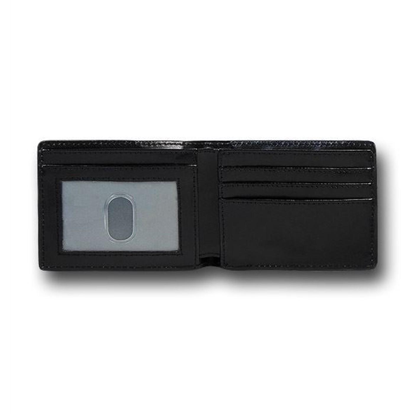 Sonic Checkered on Black Bi-Fold Wallet