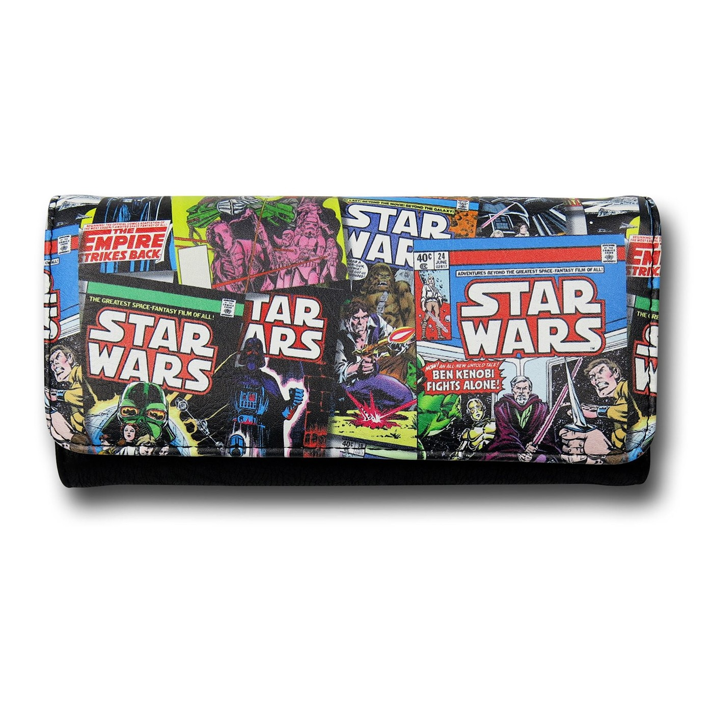 Star Wars Comic Cover Faux Leather Tri-fold Wallet