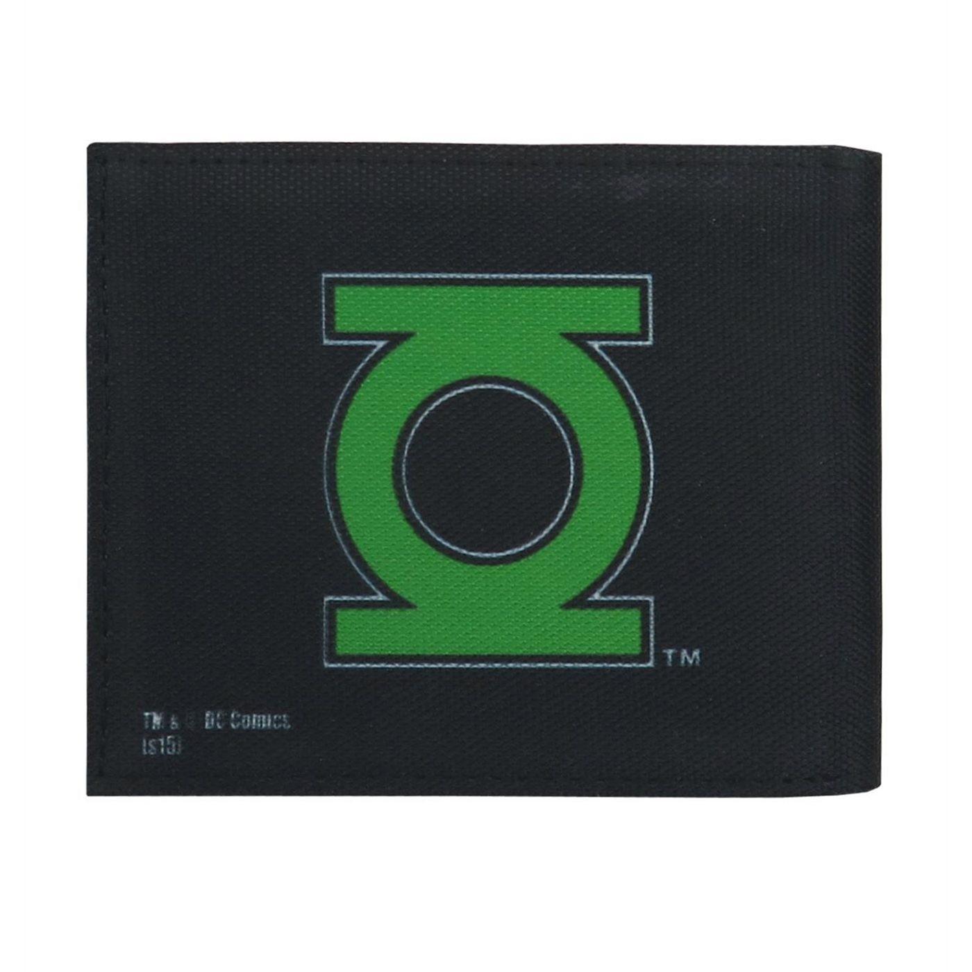 Green Lantern Symbol on Black Bi-Fold Wallet