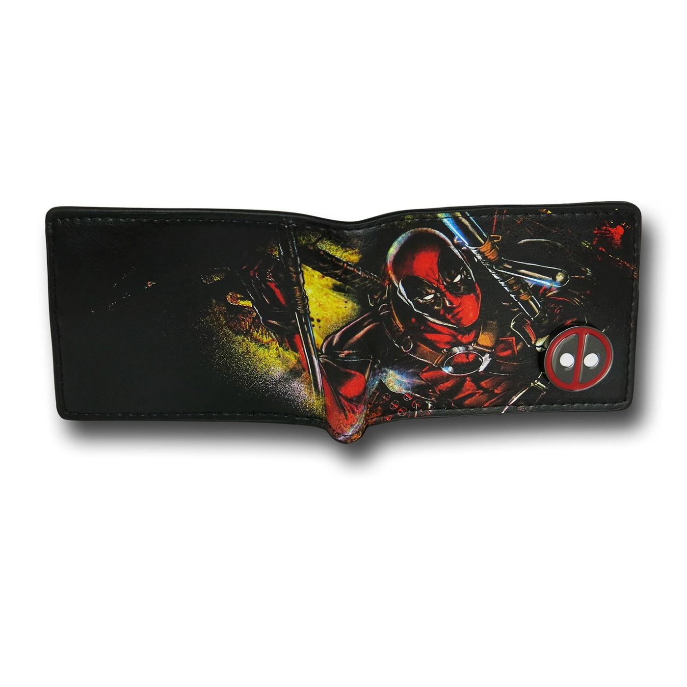 Deadpool Bi-Fold Wallet with Metal Emblem