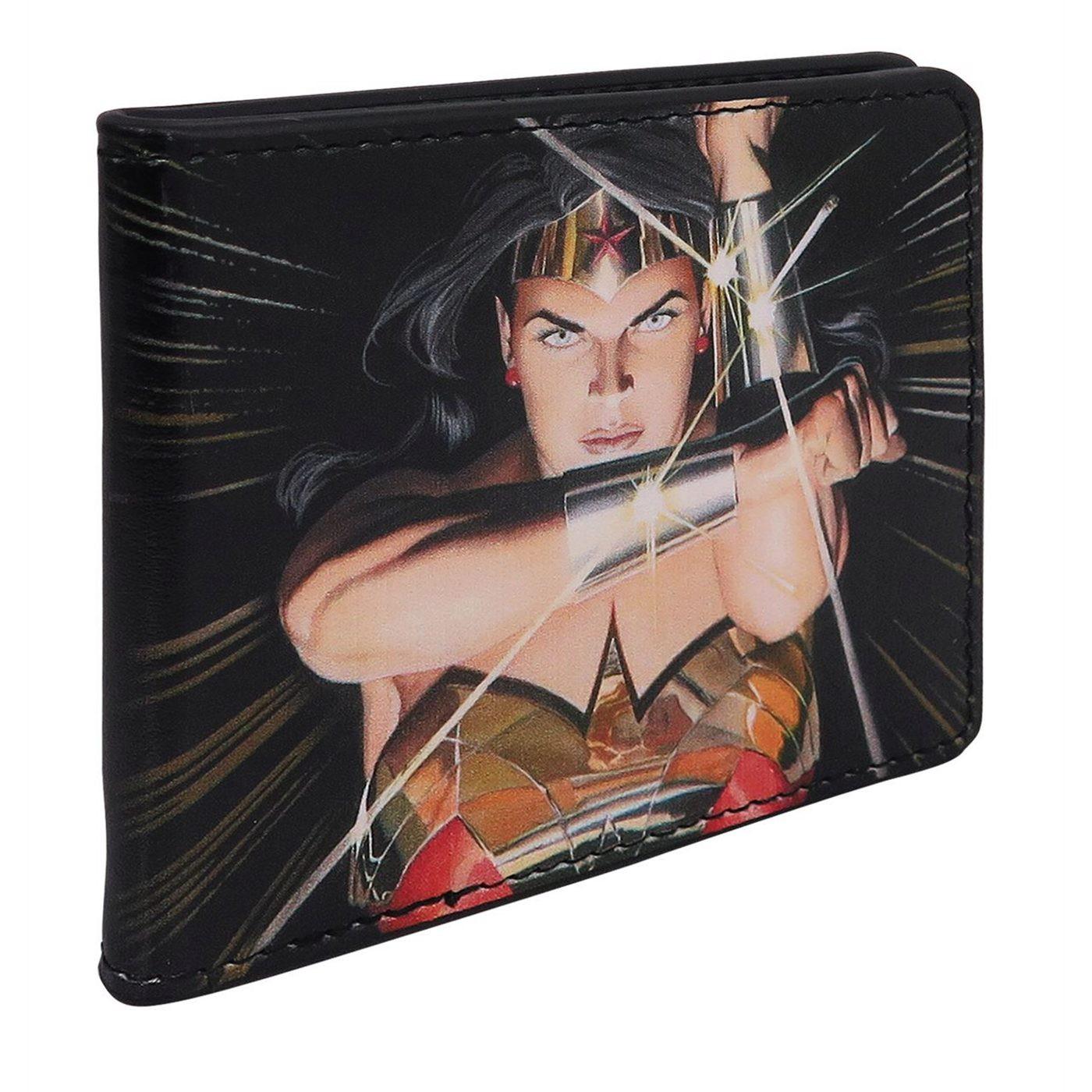 Wonder Woman Alex Ross Men's Bi-Fold Wallet