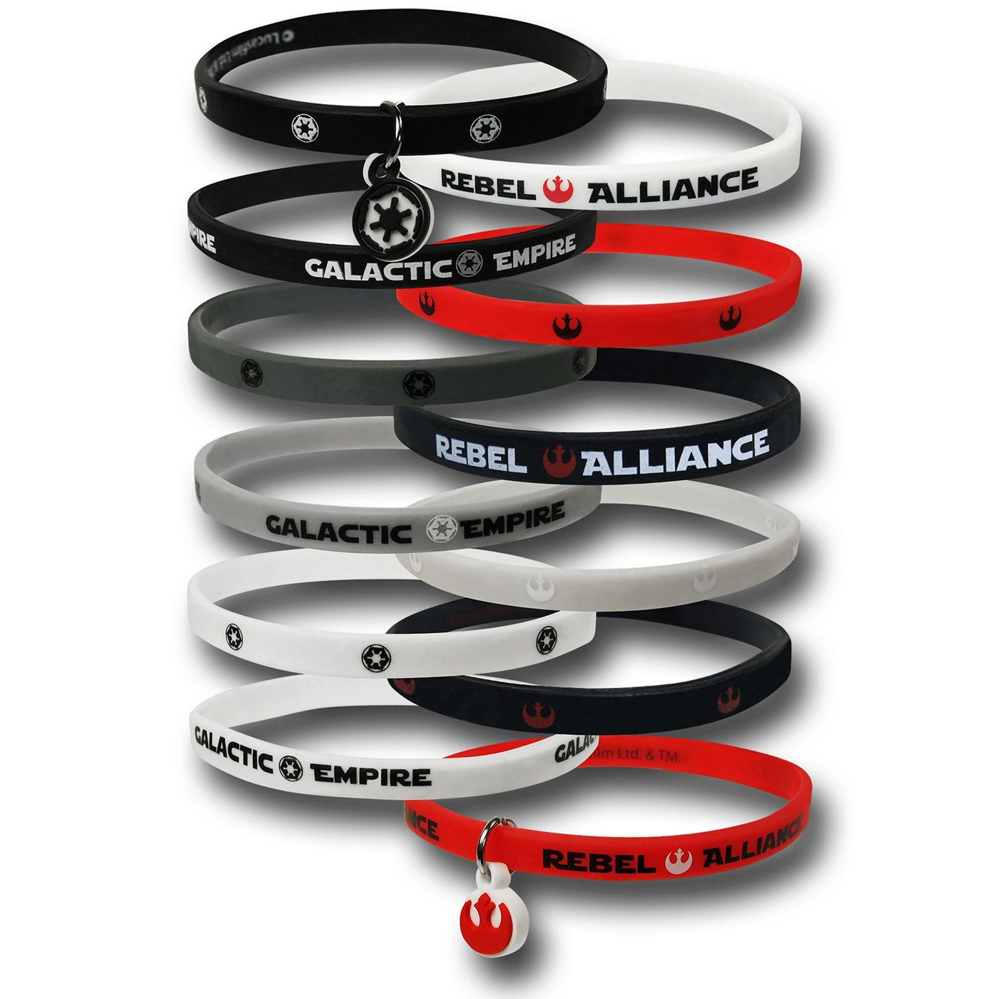 Star Wars Rubber Wristband Set