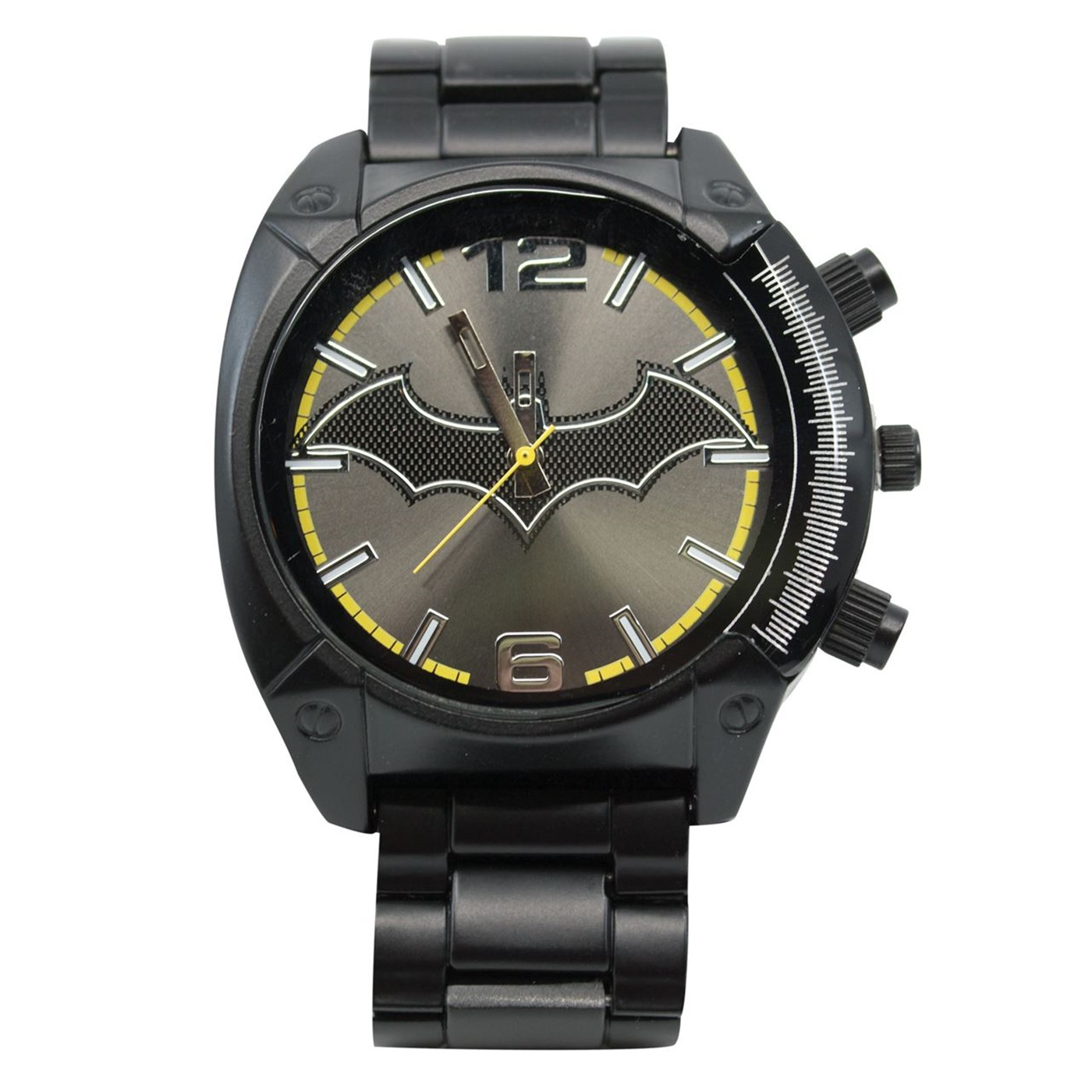 Batman Symbol Black Watch with Metal Band