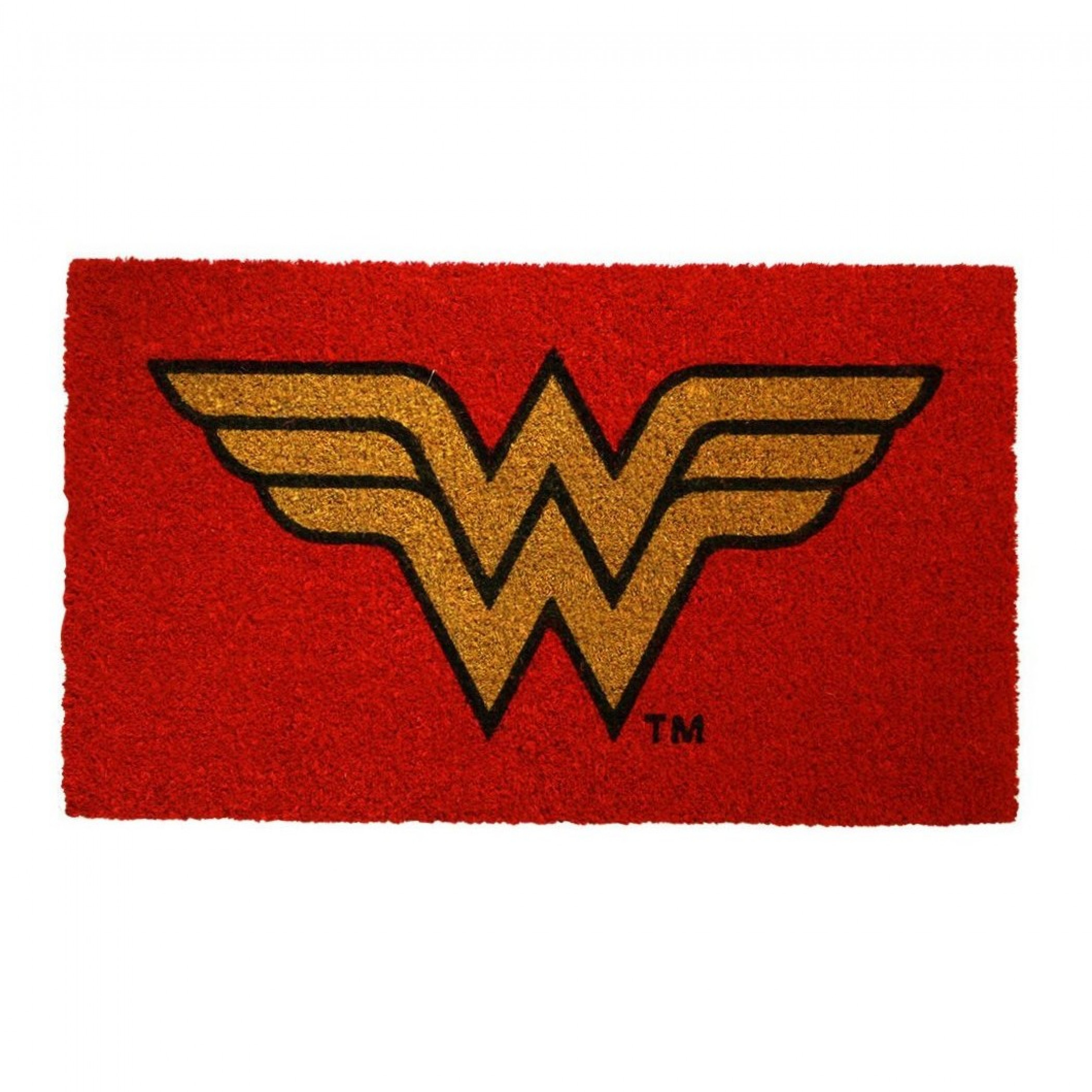 "Wonder Woman Symbol 17""x 29"" Doormat with Non-skid Back"