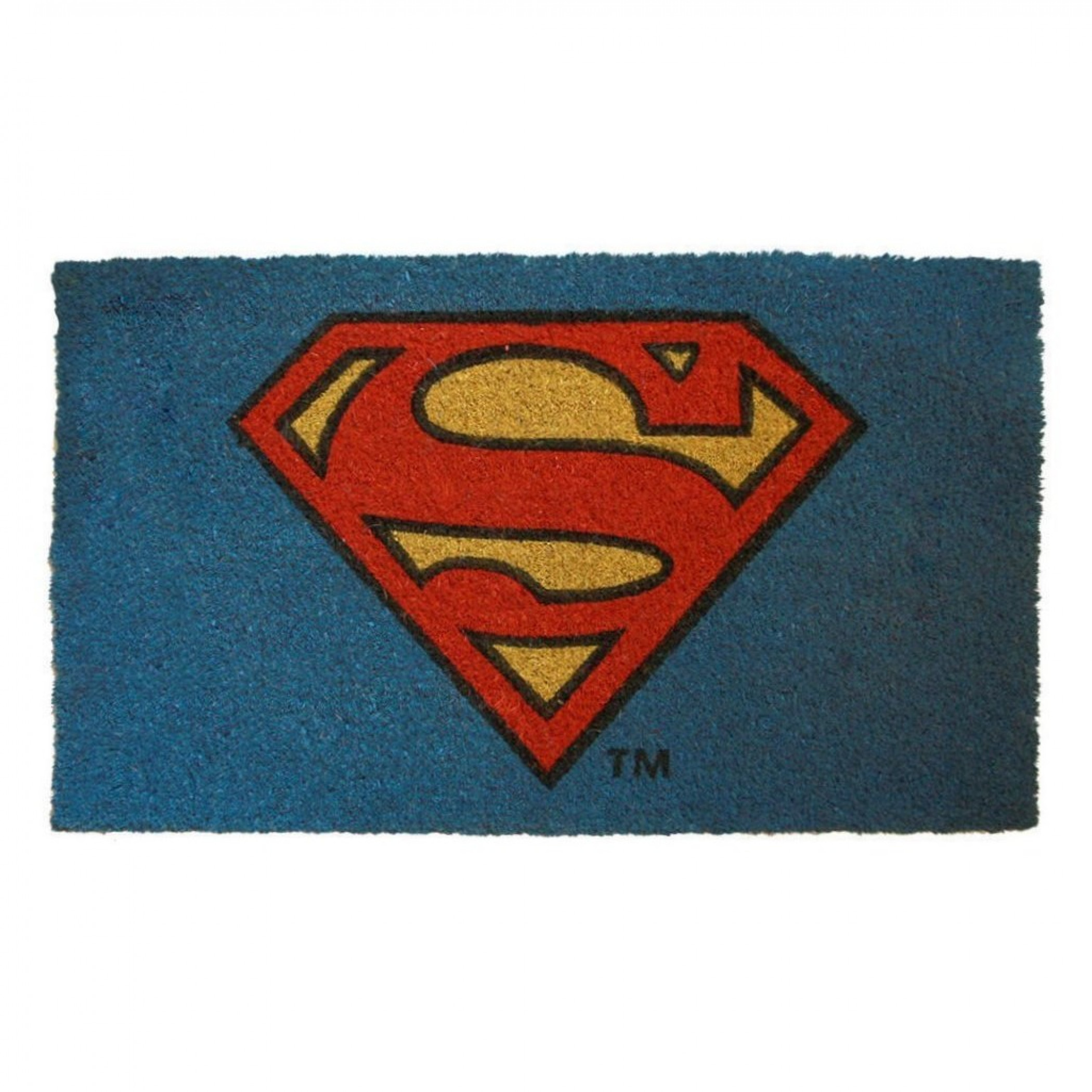 "Superman Logo 17""x 29"" Doormat with Non-Skid Back"