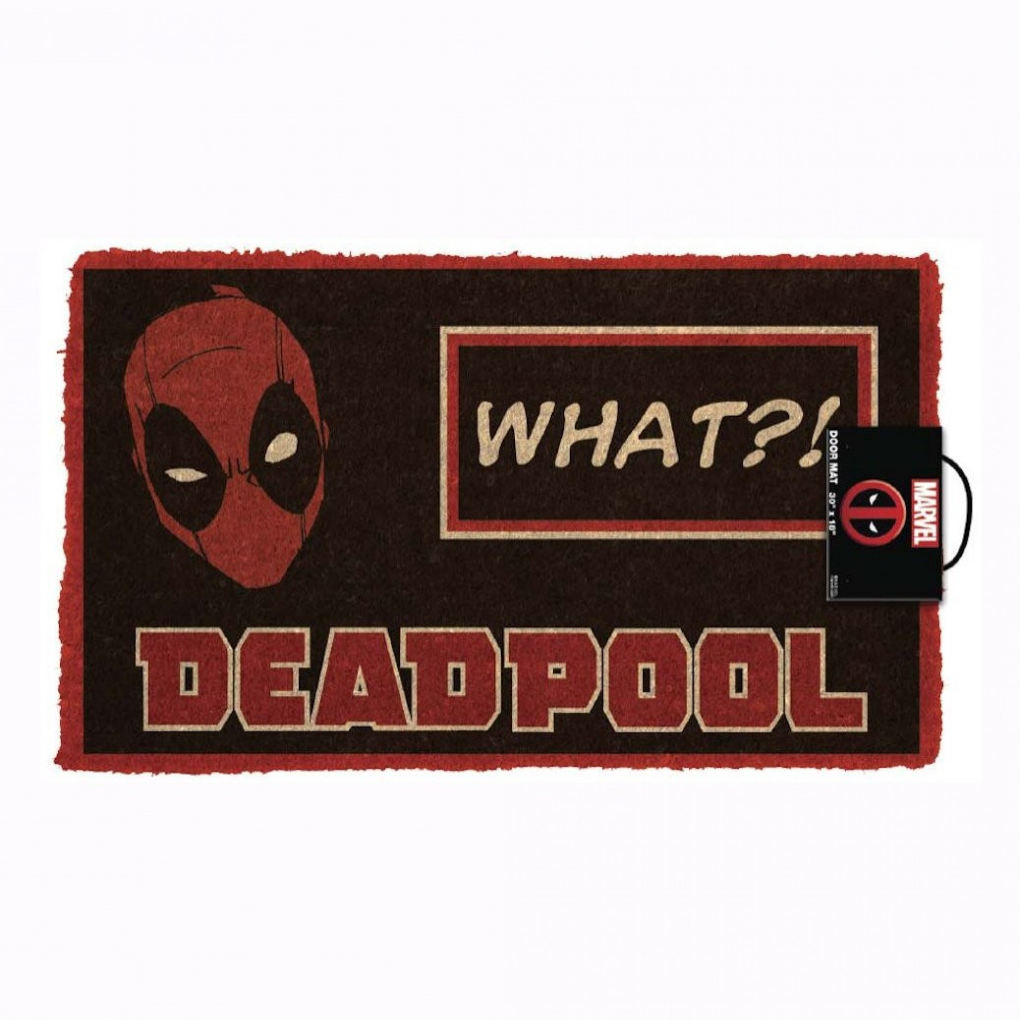 """Deadpool What?! 17""""x 29"""" Doormat with Non-skid Back"""