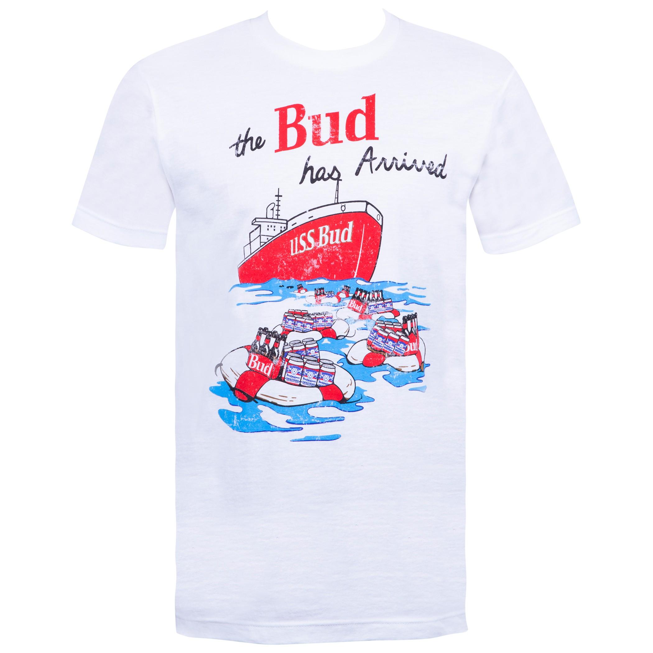 Budweiser Vintage USS Bud White Tee Shirt
