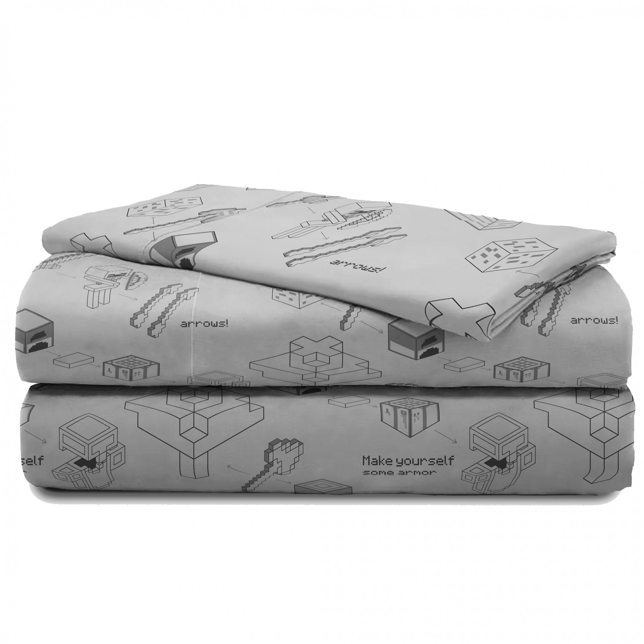 Minecraft Symbols and Logos All Over Print 3-Piece Full Sheet Set
