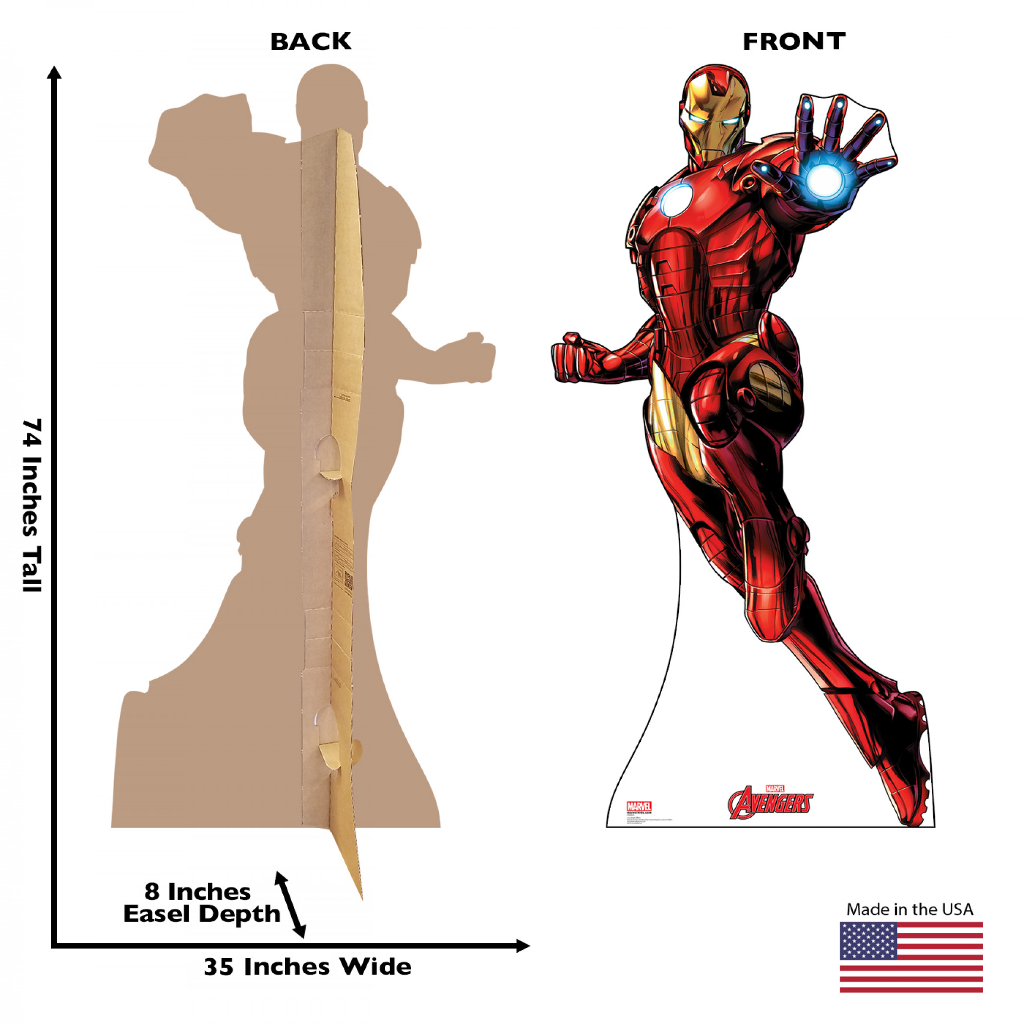 Avengers Animated Iron Man Cardboard Stand Up