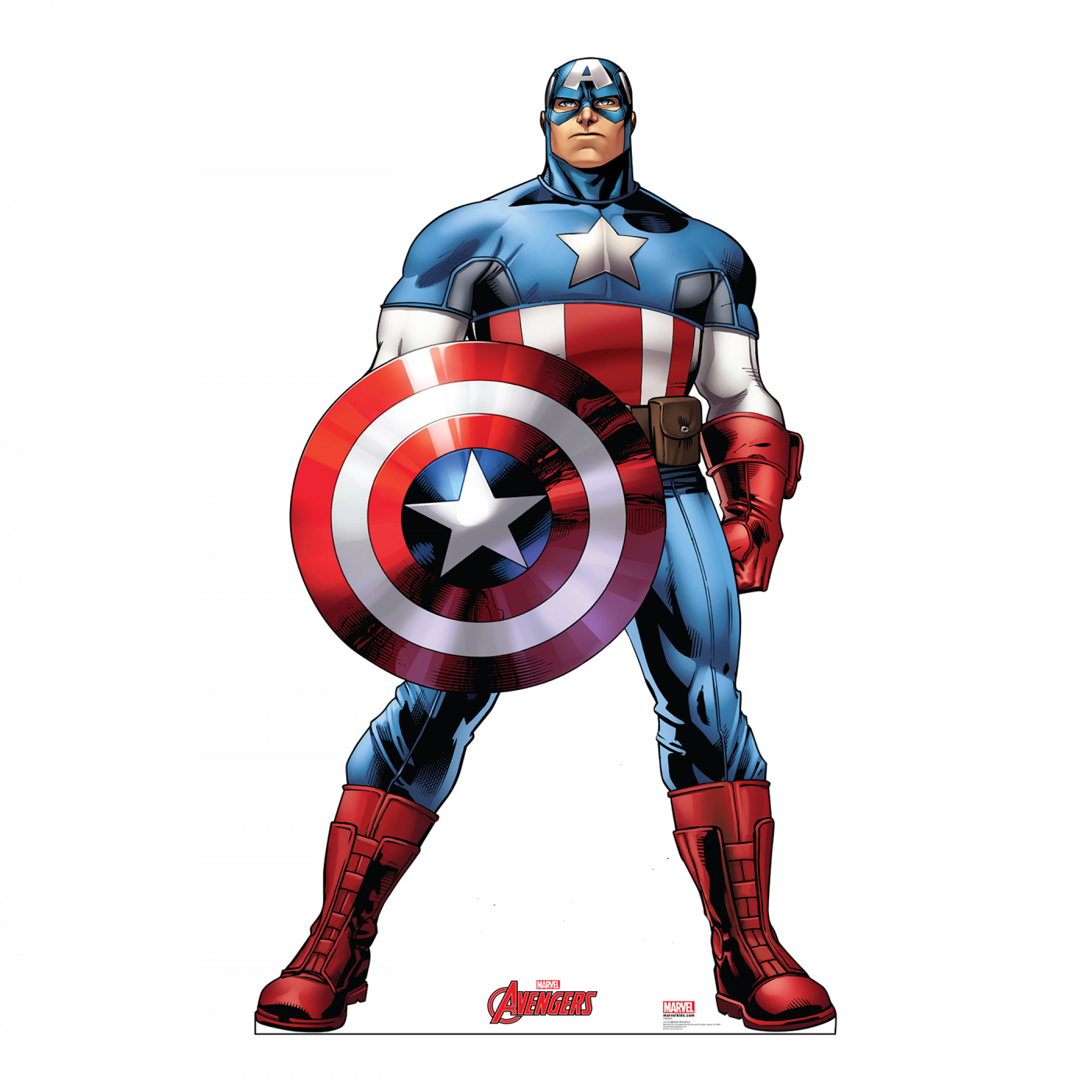 Avengers Animated Captain America Cardboard Stand Up