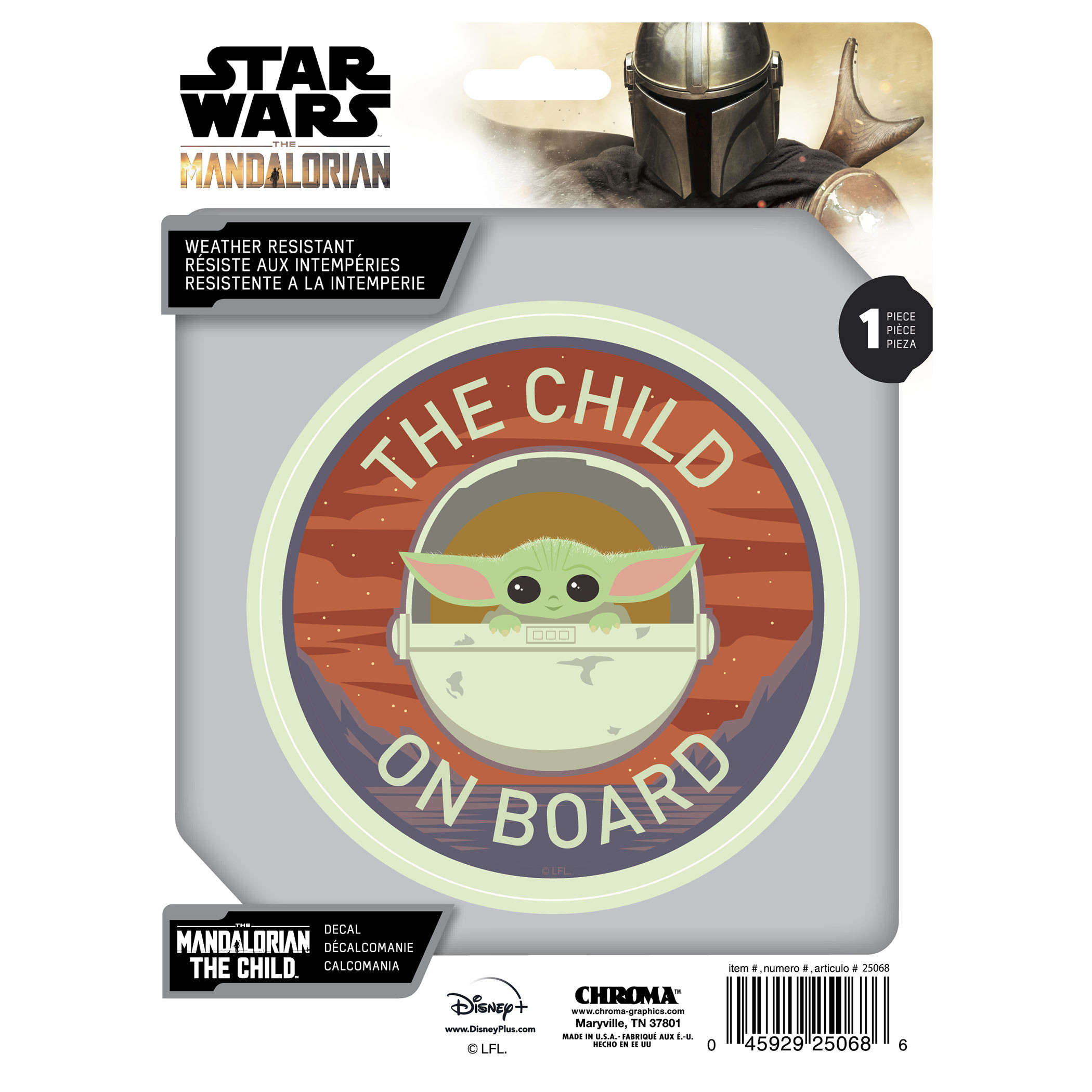 Star Wars The Mandalorian The Child On Board Desert Decal