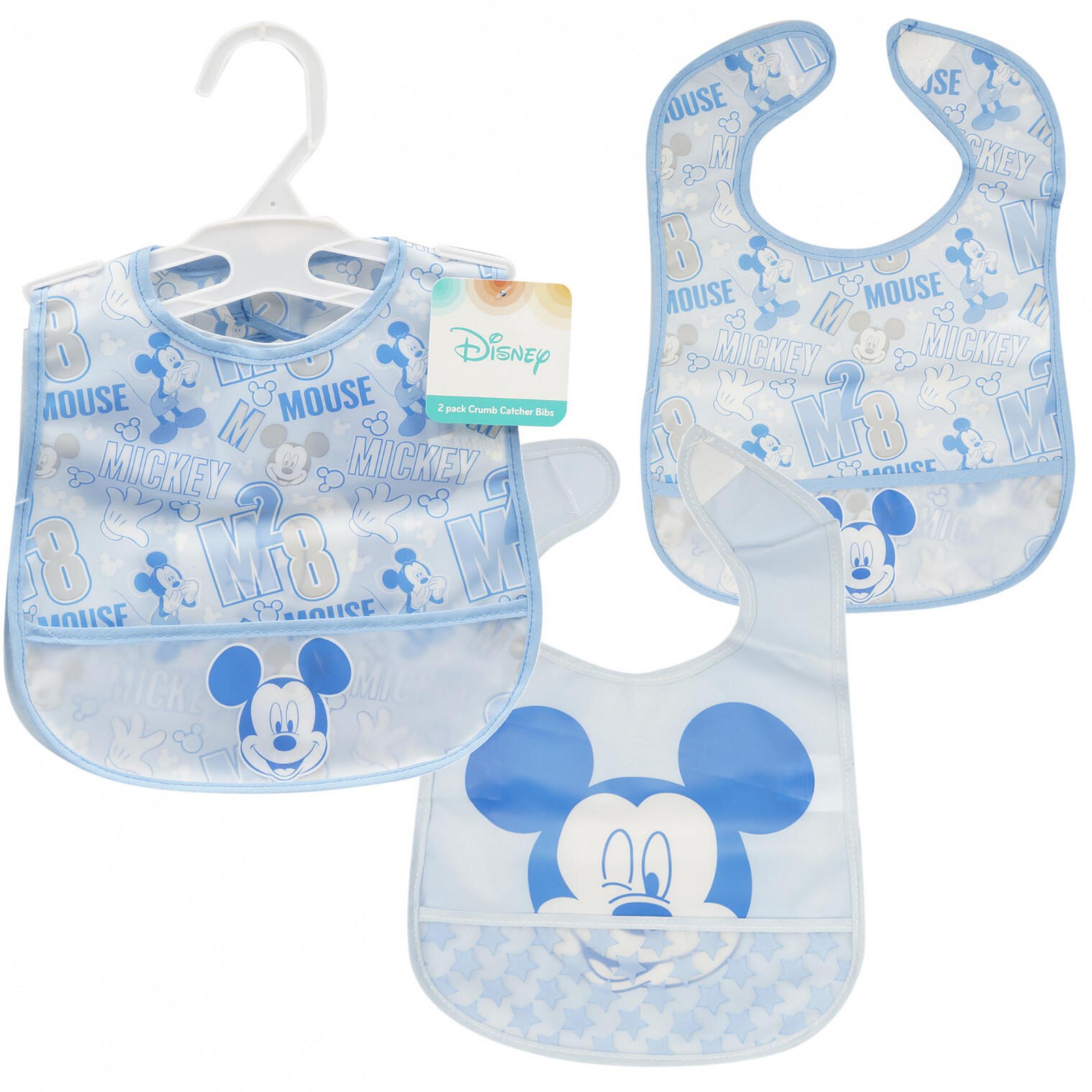 Disney Mickey Mouse Crumb Catcher Bib 2-Pack