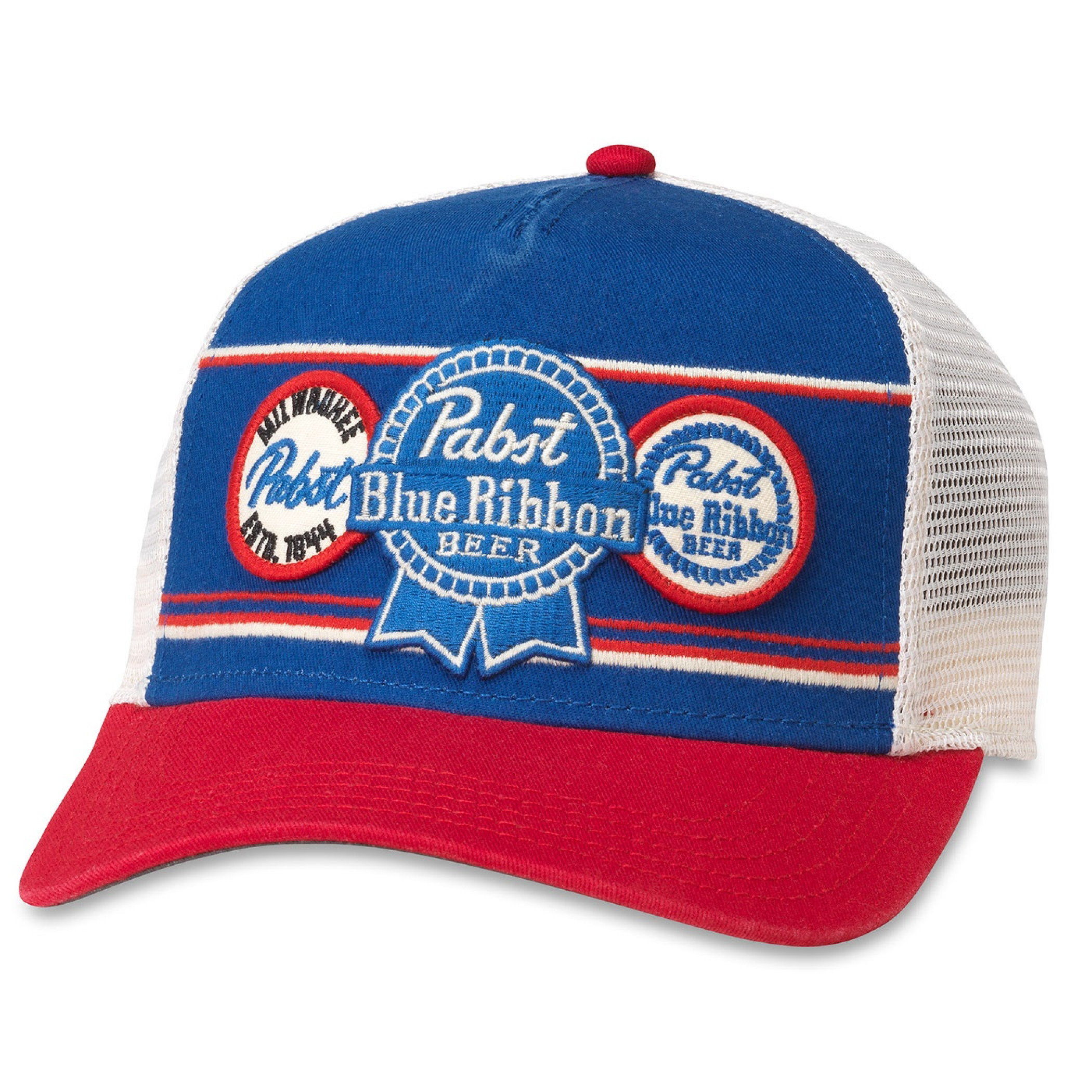 Pabst Blue Ribbon Beer Vintage Mesh Trucker Hat