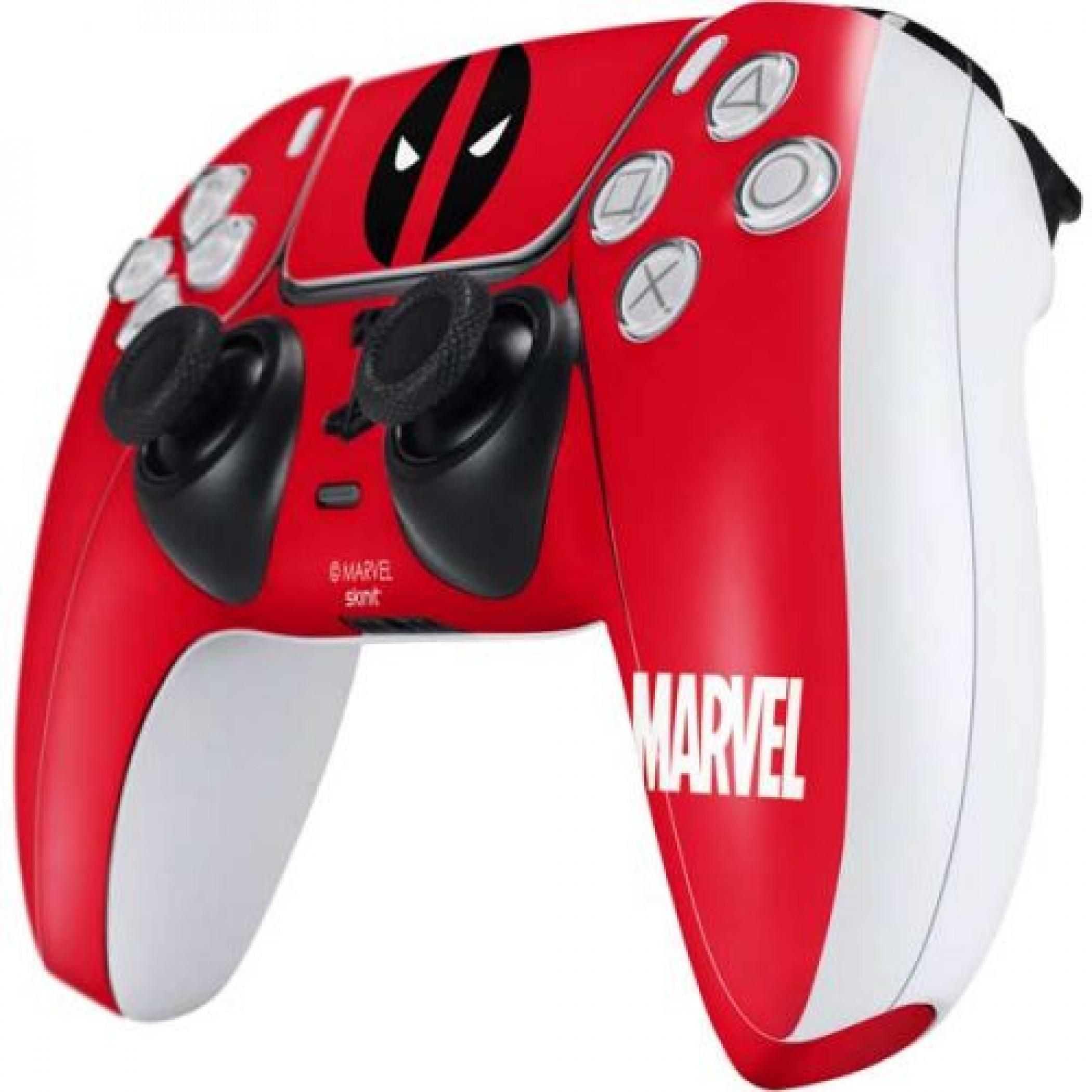 Deadpool Logo Red PS5 Controller Skin