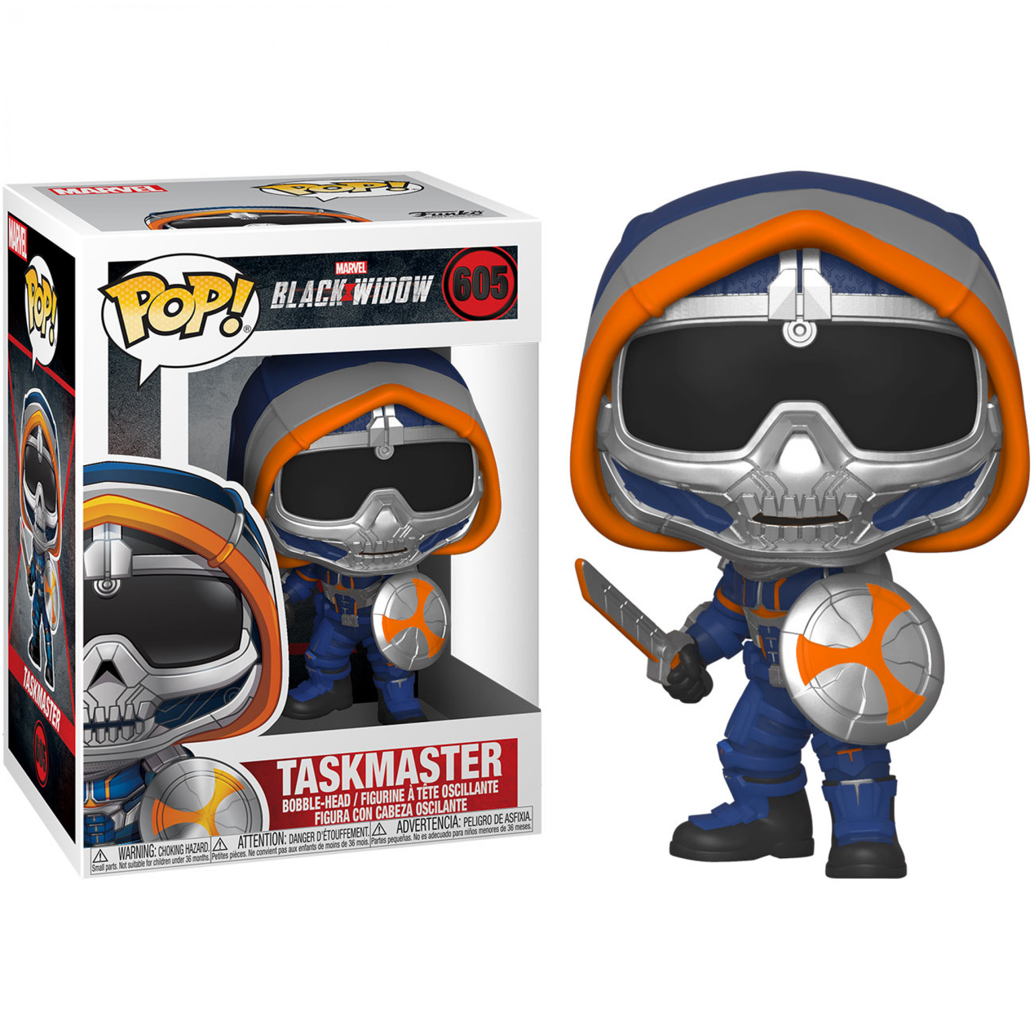 Marvel: Black Widow Movie Taskmaster with Shield Funko Pop!