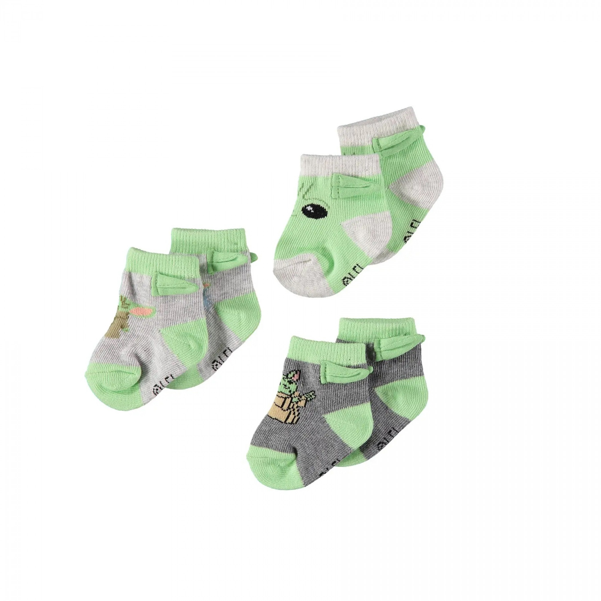 Star Wars The Mandalorian Grogu Booties Sock 3-Pack