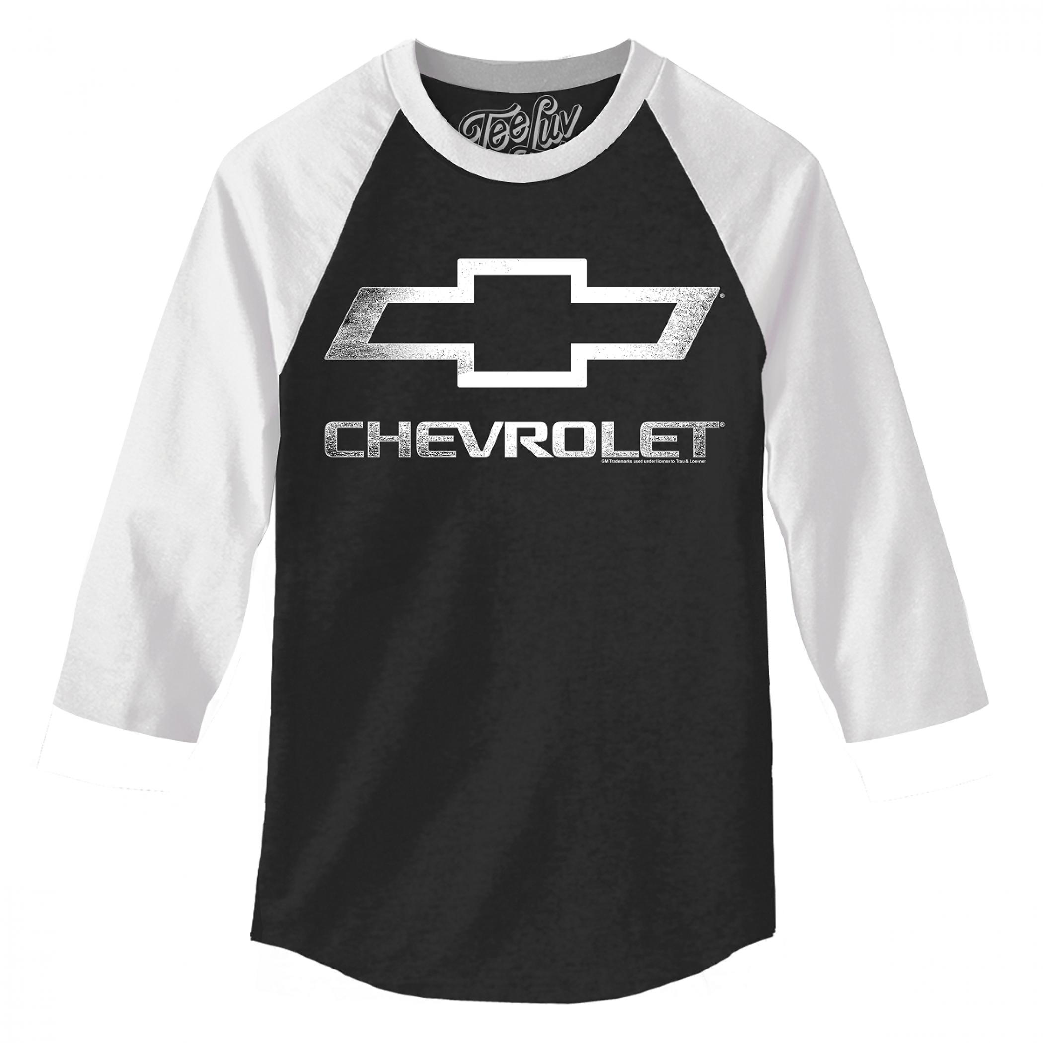 Chevrolet Black and White Baseball T-Shirt