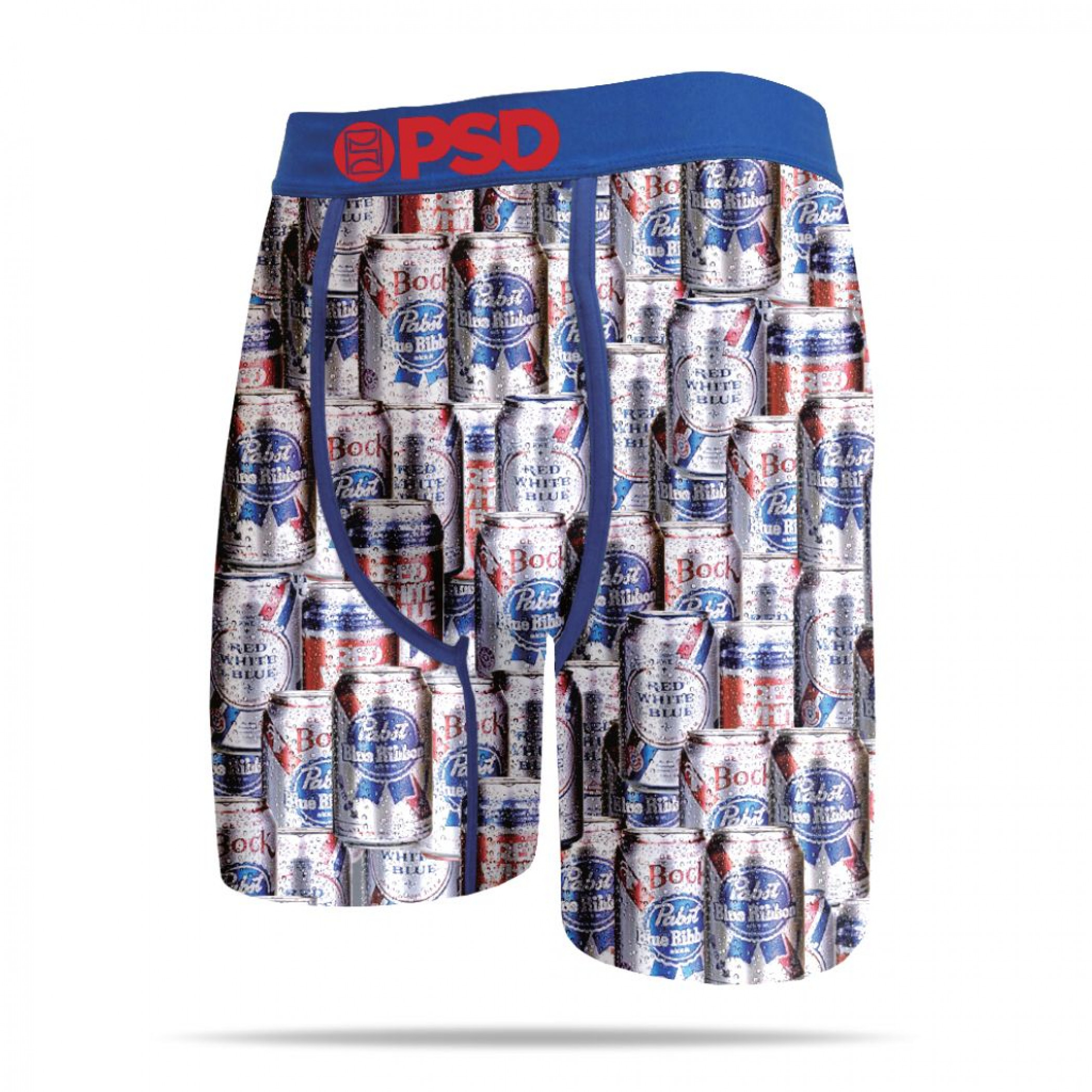 Pabst Blue Ribbon Beer Cans All Over Print Men's Boxer Briefs