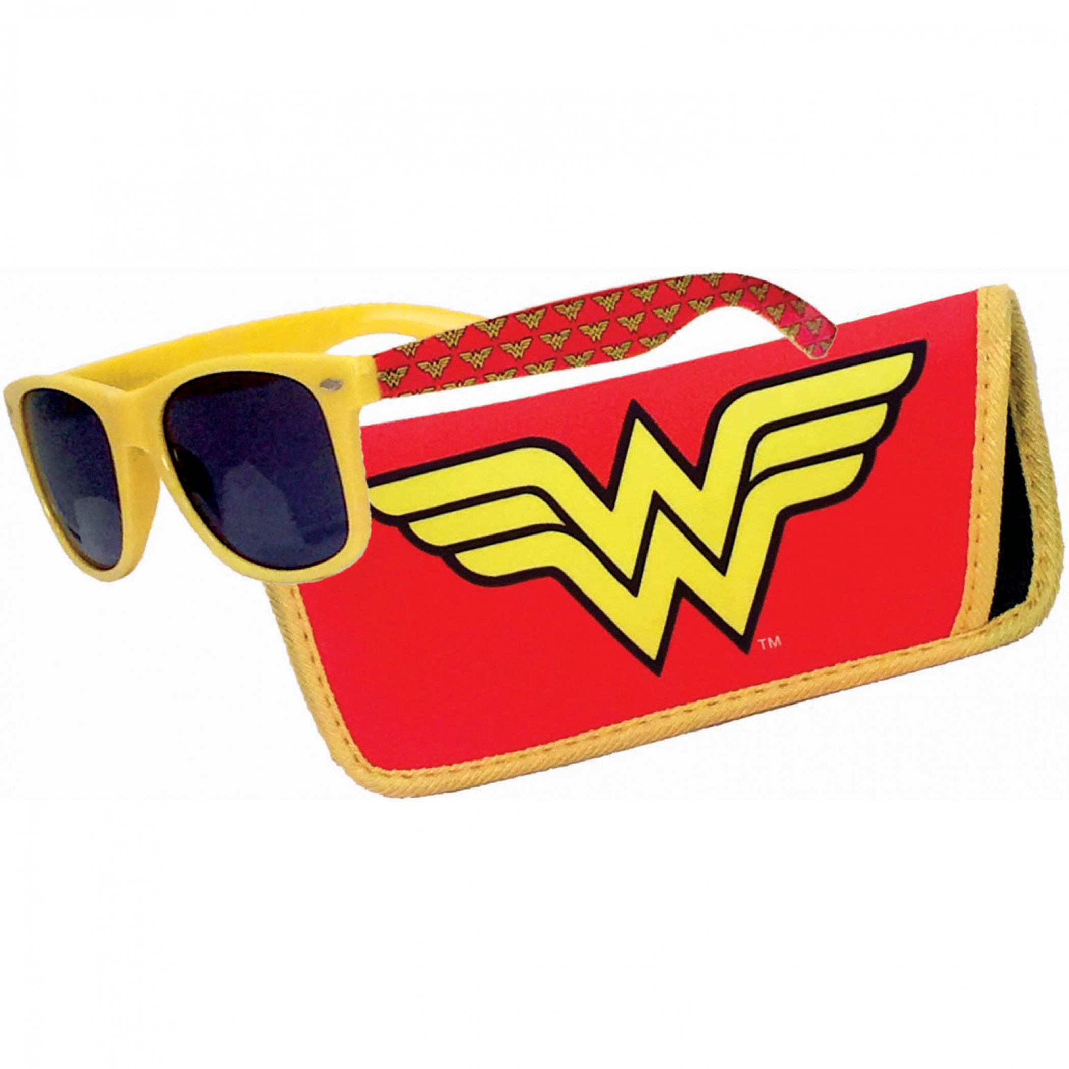Wonder Woman Logo Sunglasses with Pouch