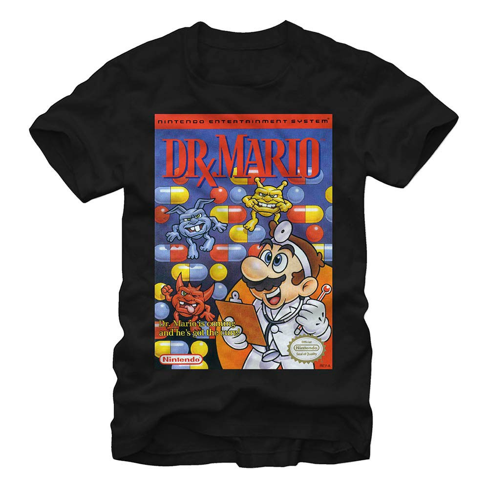 Nintendo NES Dr Mario Black T-Shirt