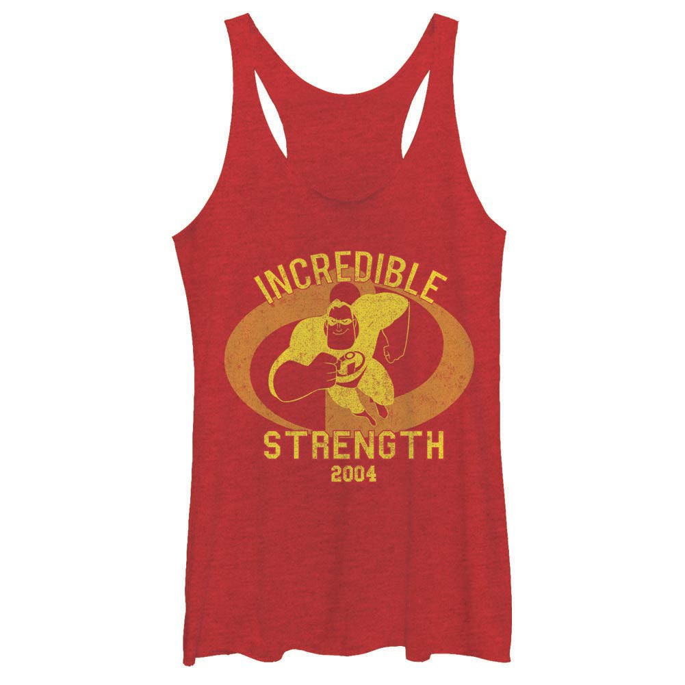 Disney Pixar The Incredibles Incredibles Gym Red Juniors Racerback Tank Top