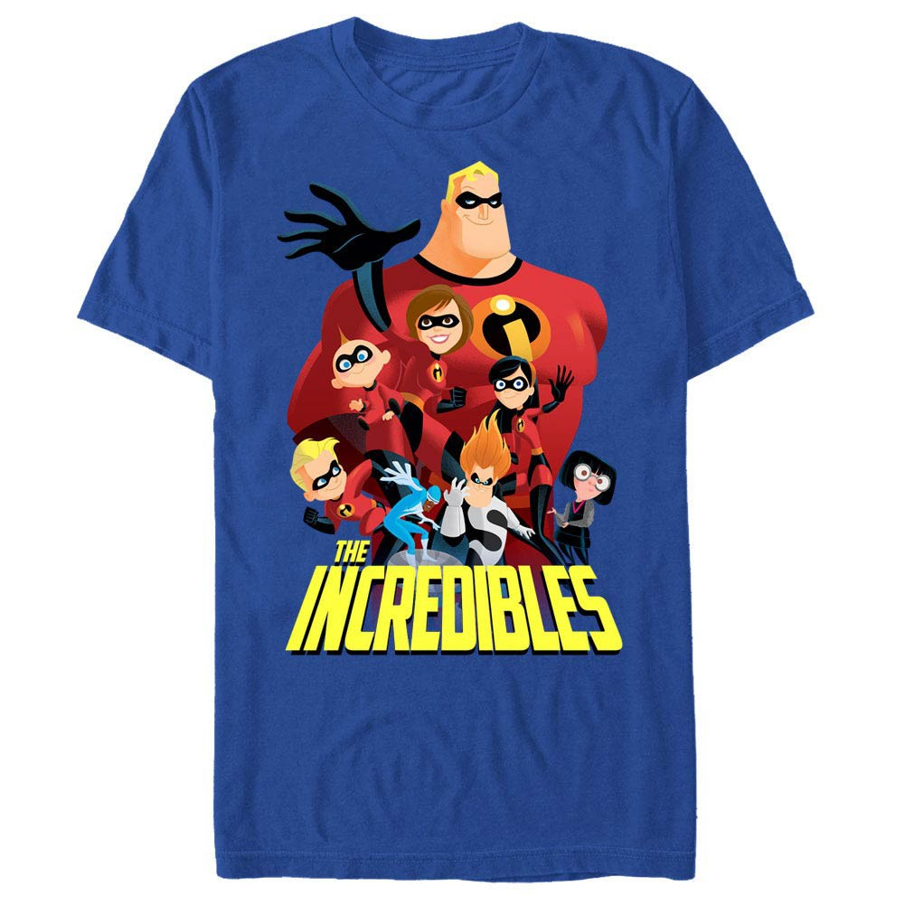 Disney Pixar The Incredibles All Of Them Blue T-Shirt
