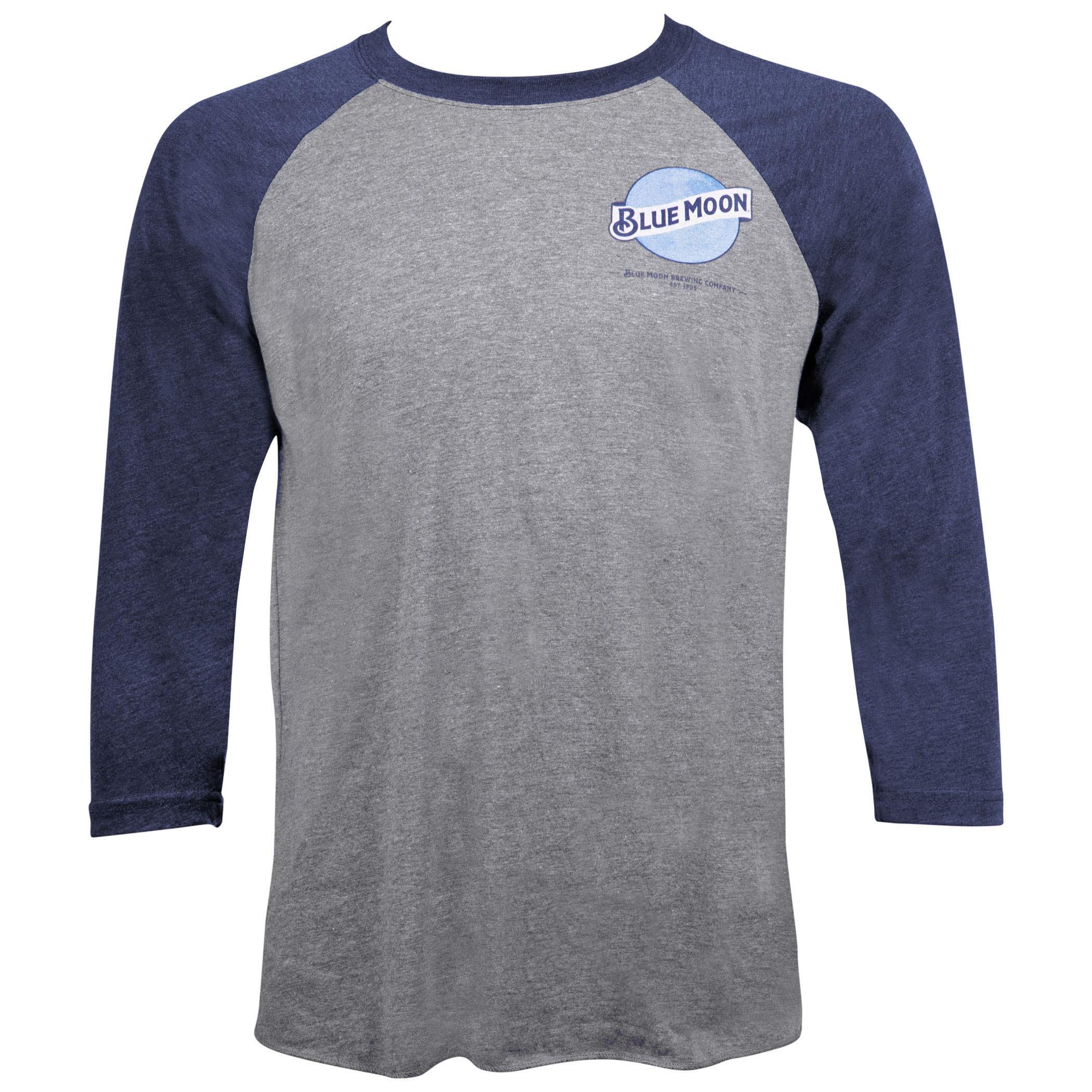 Blue Moon Beer Men's Grey Raglan T-Shirt