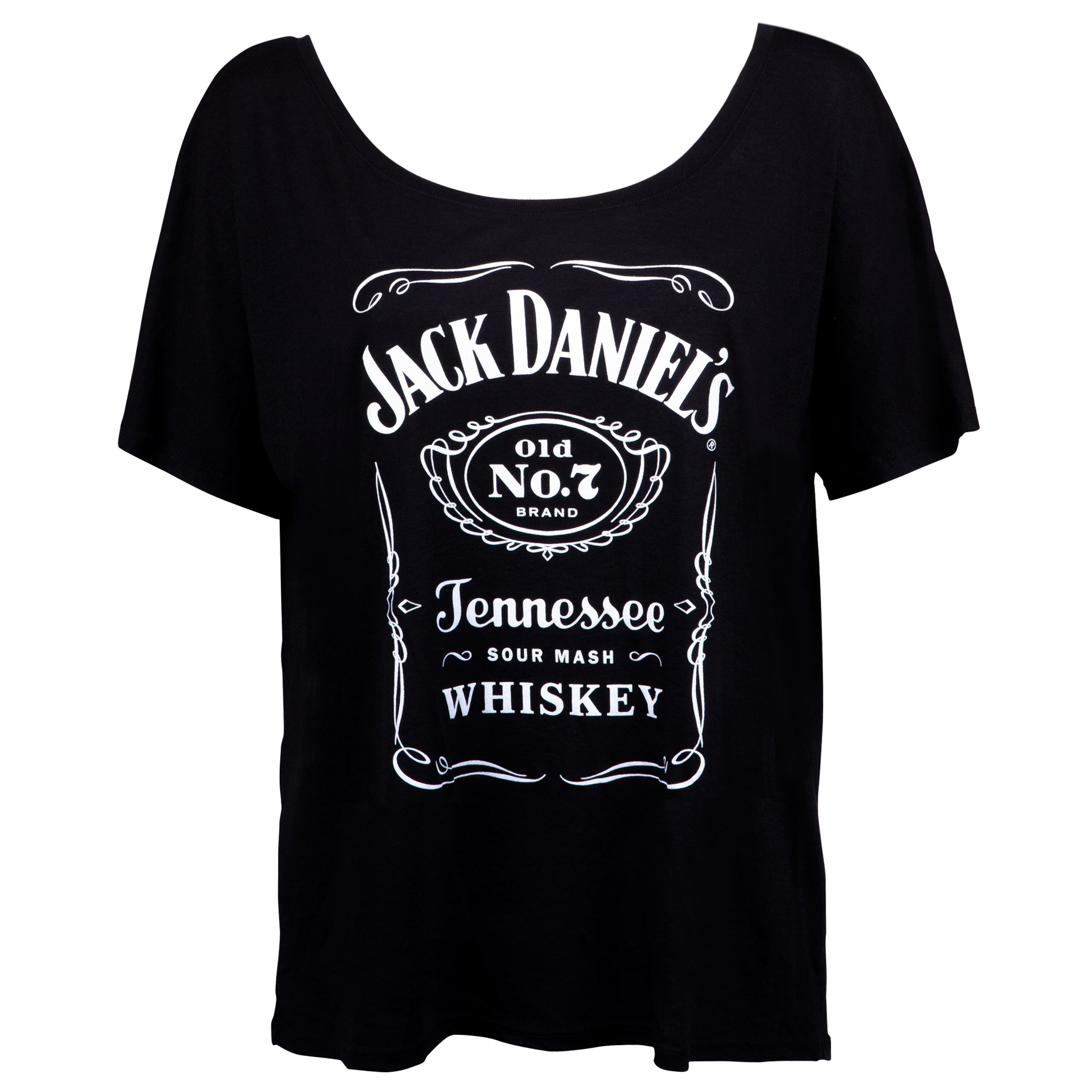 Jack Daniels Loose Fit Women's Bottle Label Tshirt