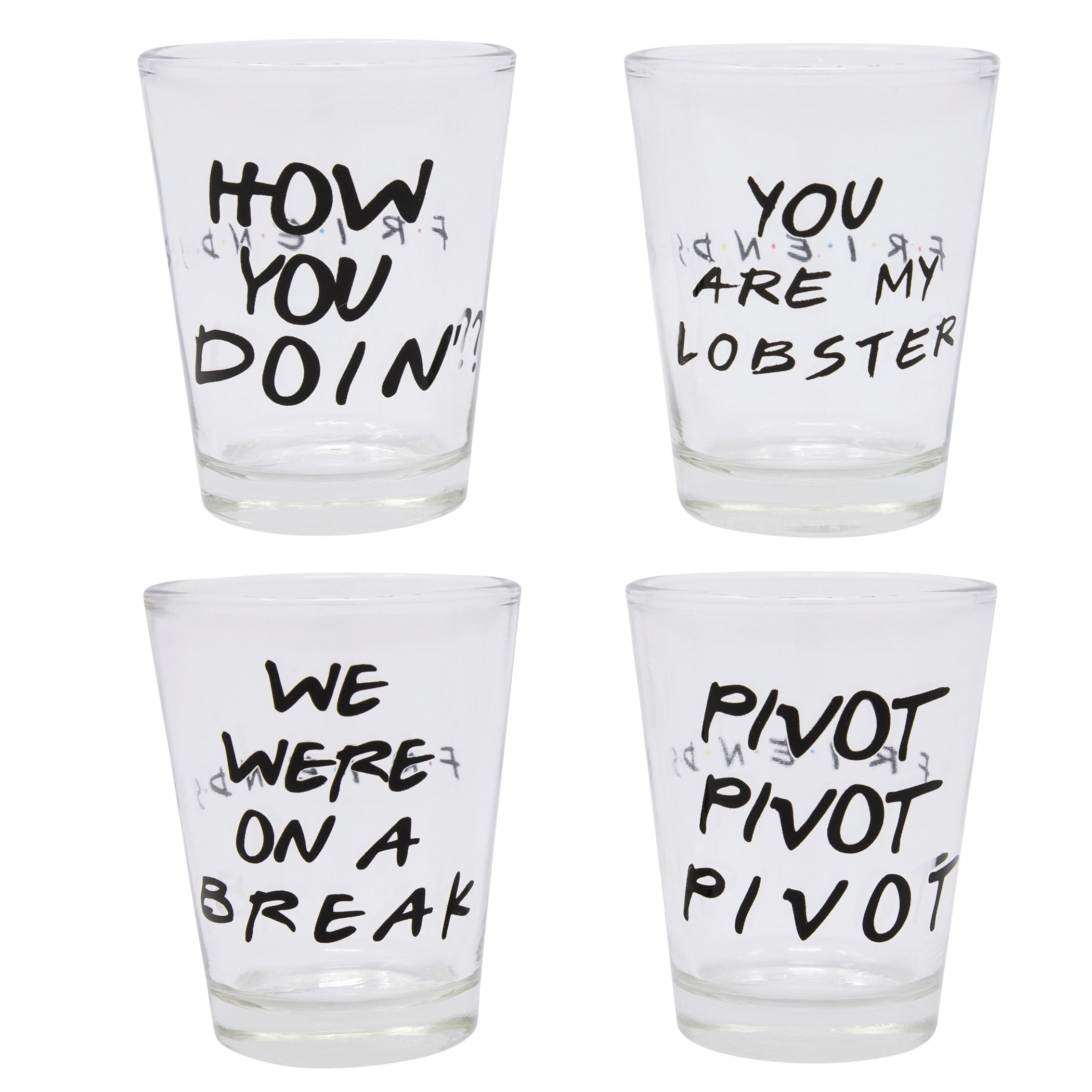 Friends Four Pack Shot Glass Set