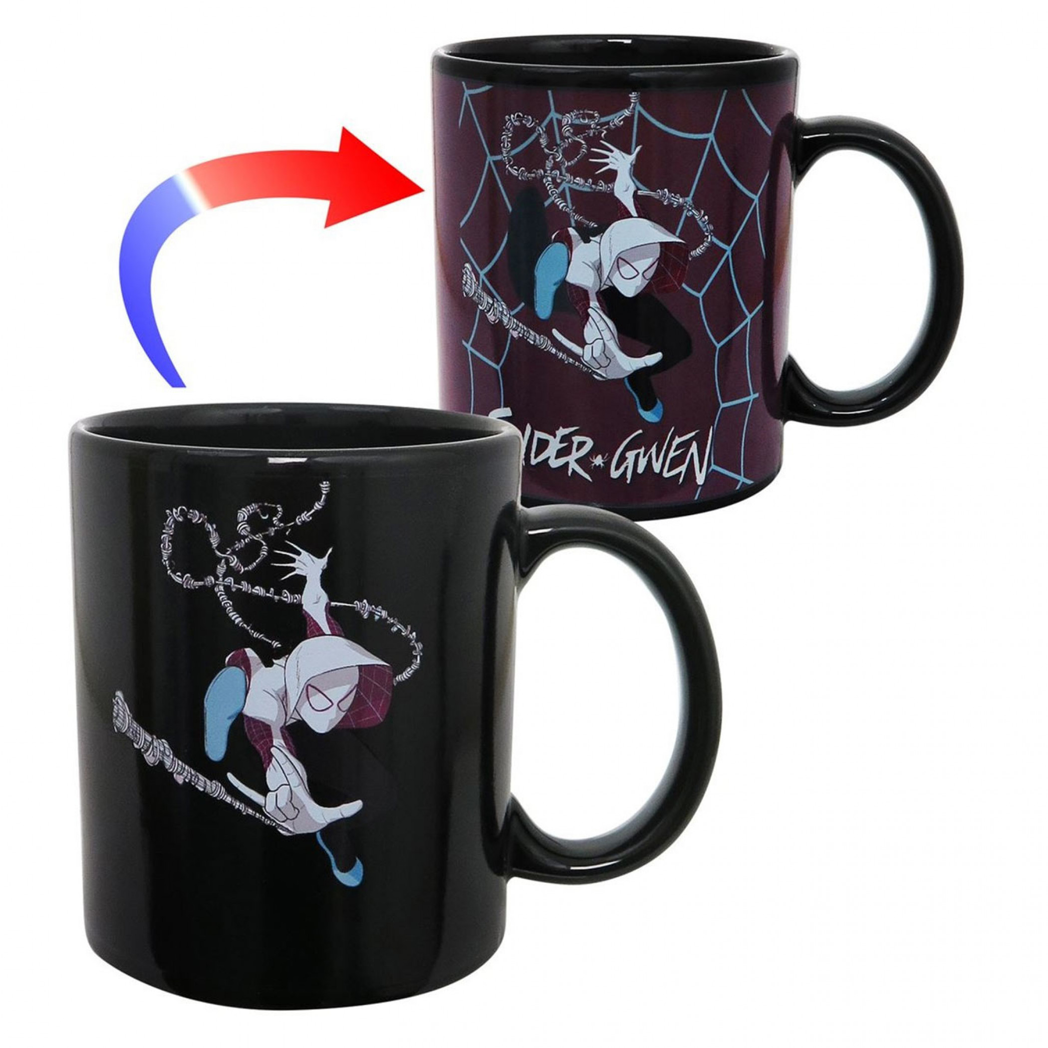 Spider-Gwen Swing Heat Changing Mug
