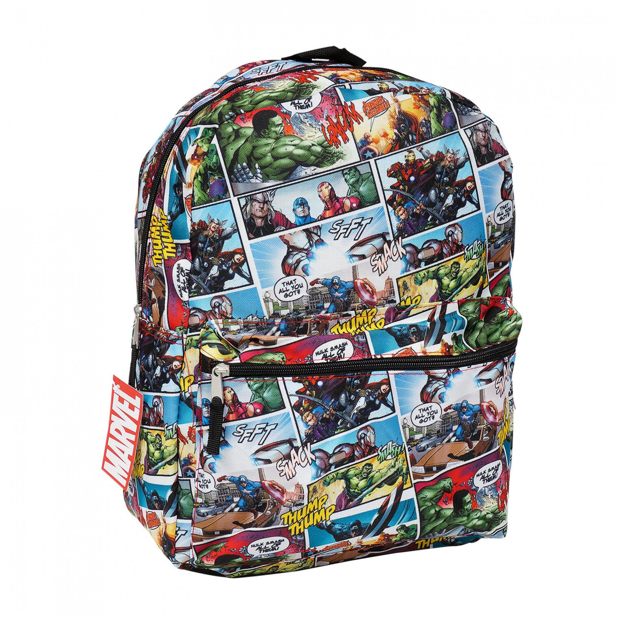Marvel's Avengers Comic Panels All Over Print Backpack