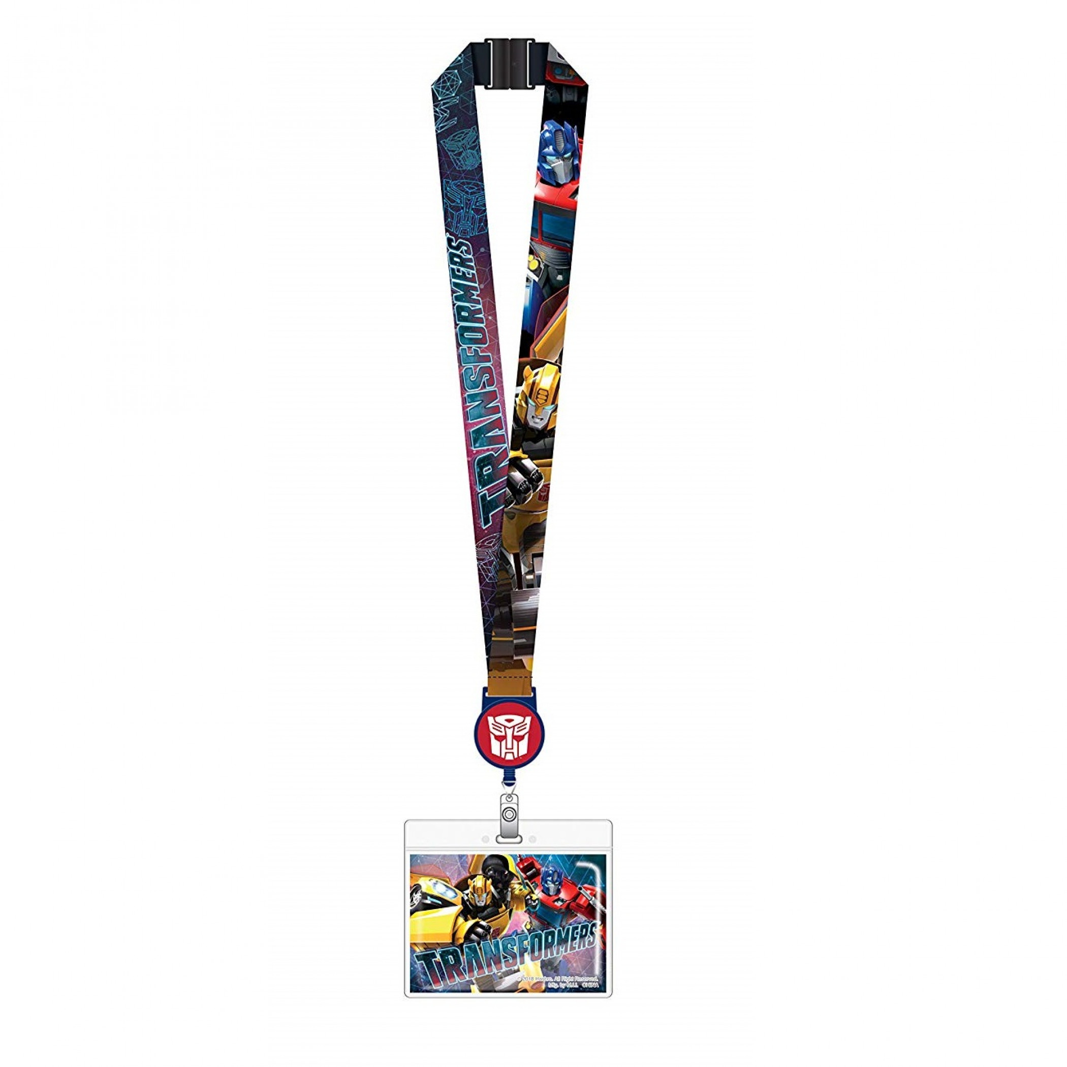 Transformers Characters Repeating ID Card Holder Lanyard